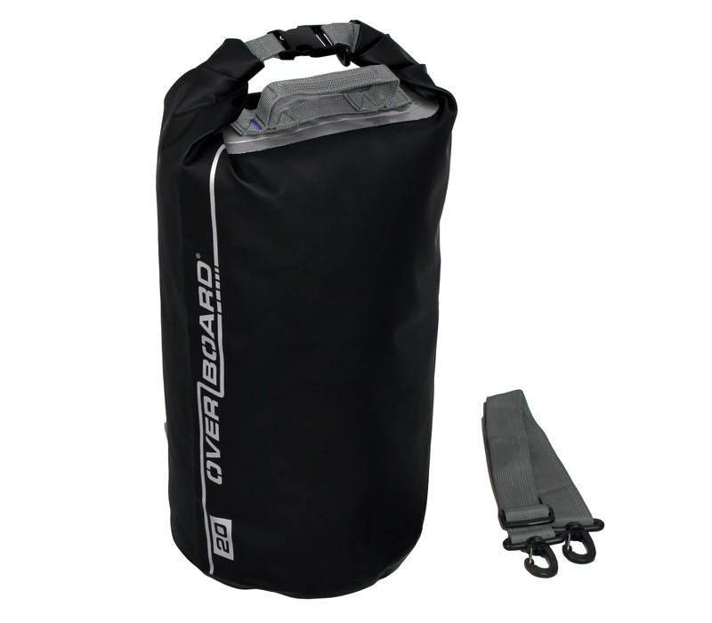 Overboard 20L Dry Tube Waterproof Bag 44 x 25 cm , 0.47 kg Black (1728)