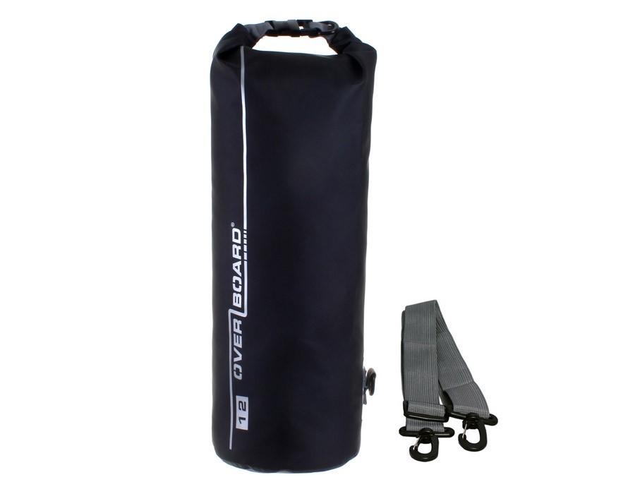 Overboard 12L Dry Tube Waterproof Bag 45 x 18 cm , 0.42 kg Black (3845)