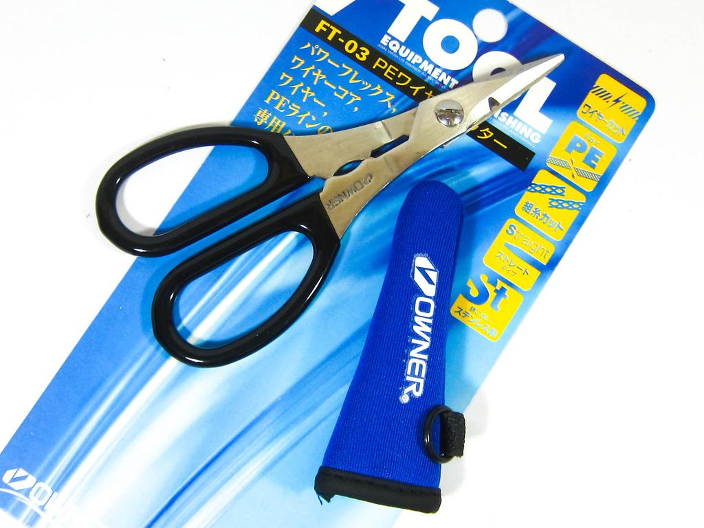Owner FT-03 P.E Braided Line Light Wire Scissors 12.5 x 6 cm Blue (1804blue)