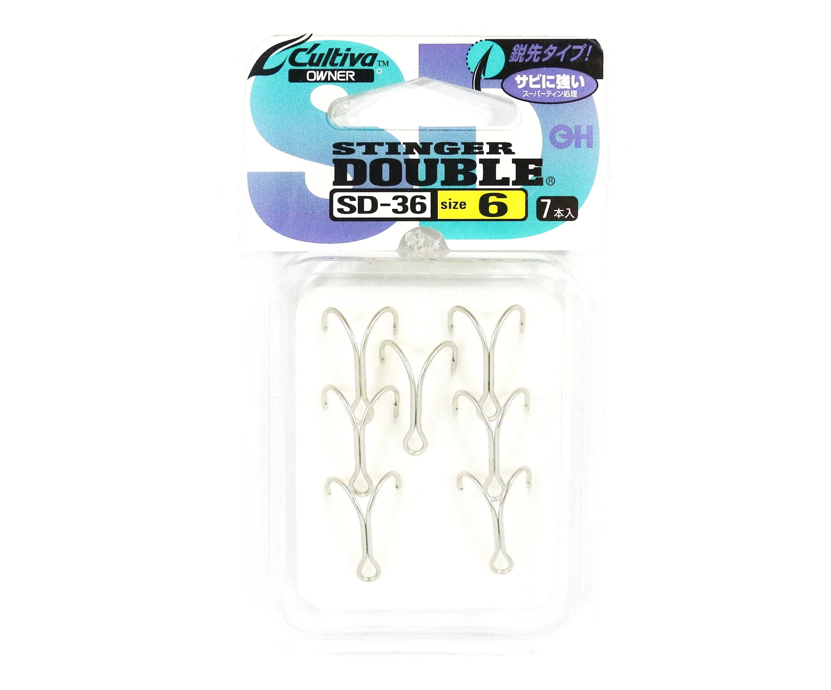 Owner SD-36 Double Hook Stinger Size 6 Japan (6086)
