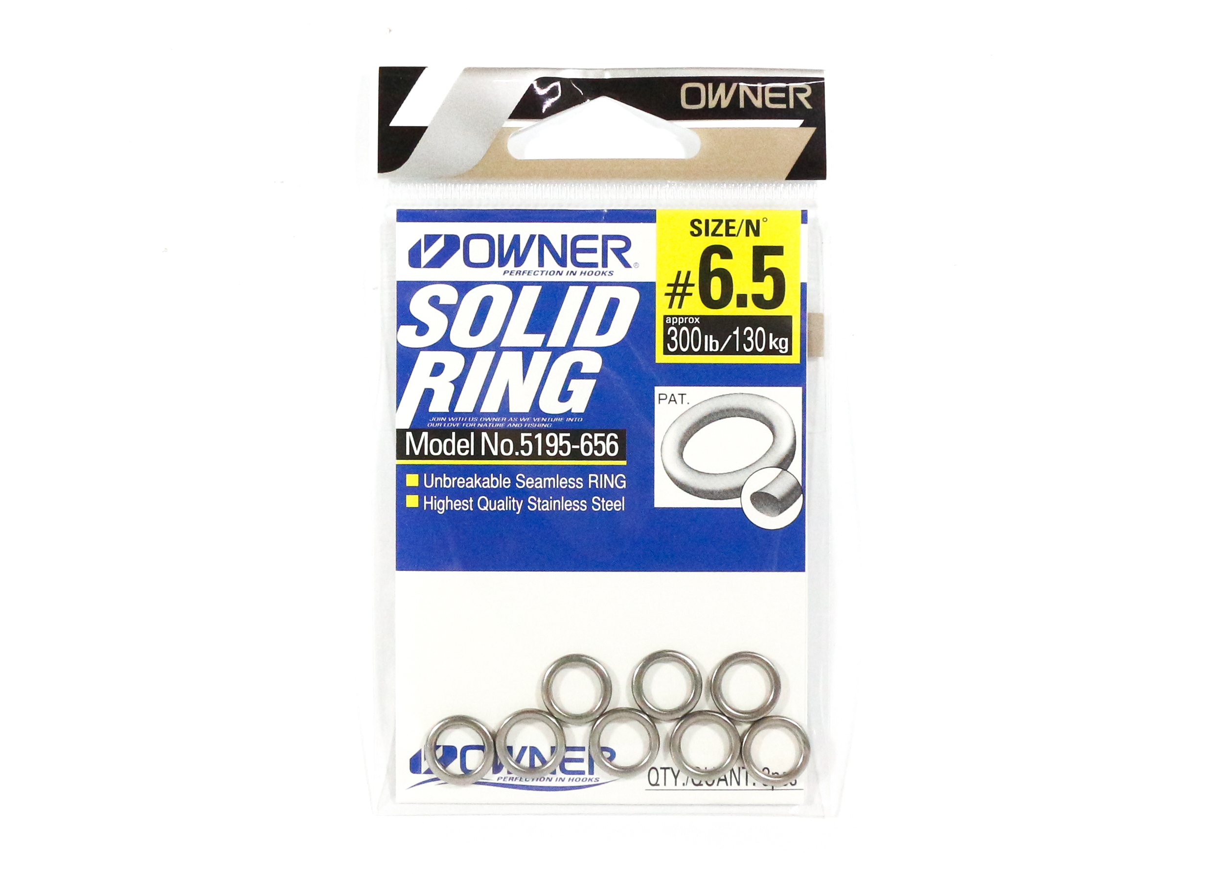 Owner 5195 Solid Ring Heavy Duty Size 6.5 , 300lb - 8 rings (5406)