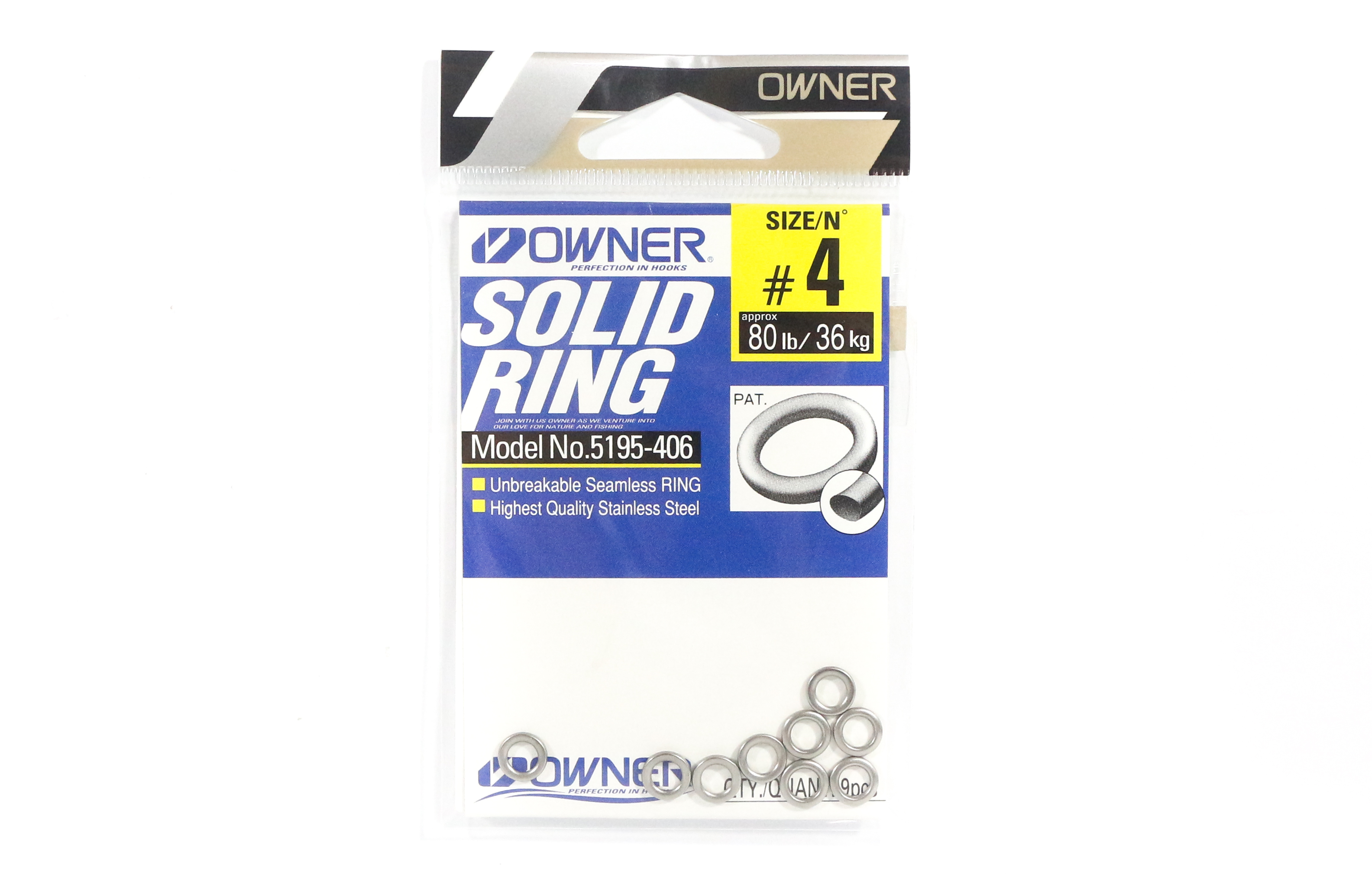 Owner 5195 Solid Ring Heavy Duty Size 4.0 , 80lb - 9 rings (8568)