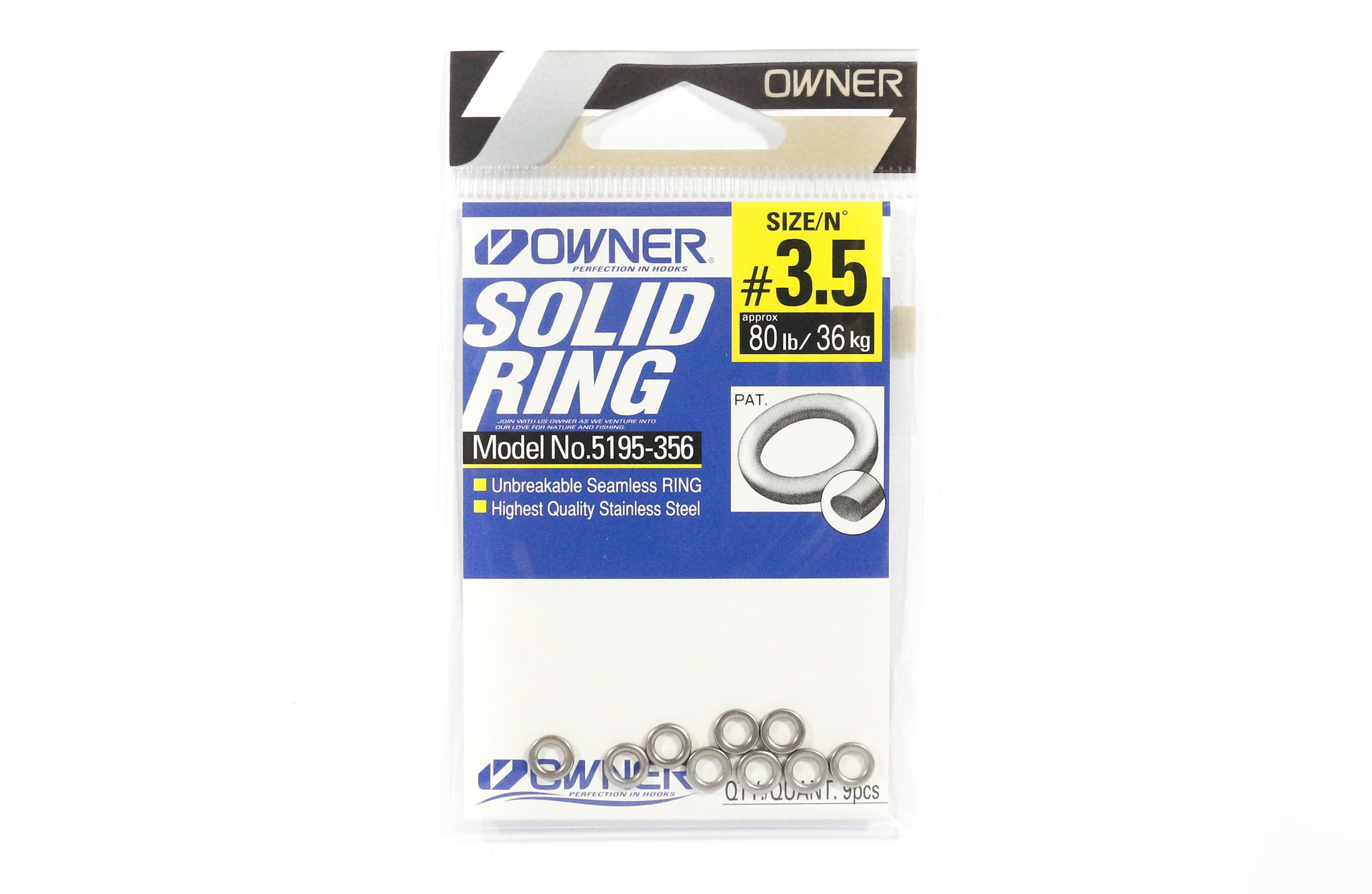 Kahara Solid Ring Stainless Steel Size 3.5-60lb 5688
