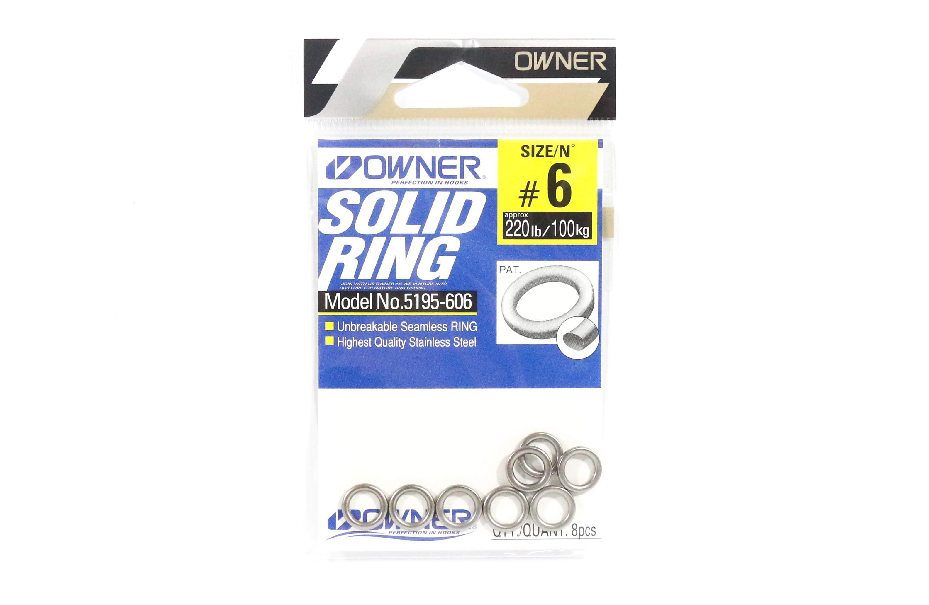 Owner 5195 Solid Ring Heavy Duty Size 6.0 , 220lb - 8 rings (0295)