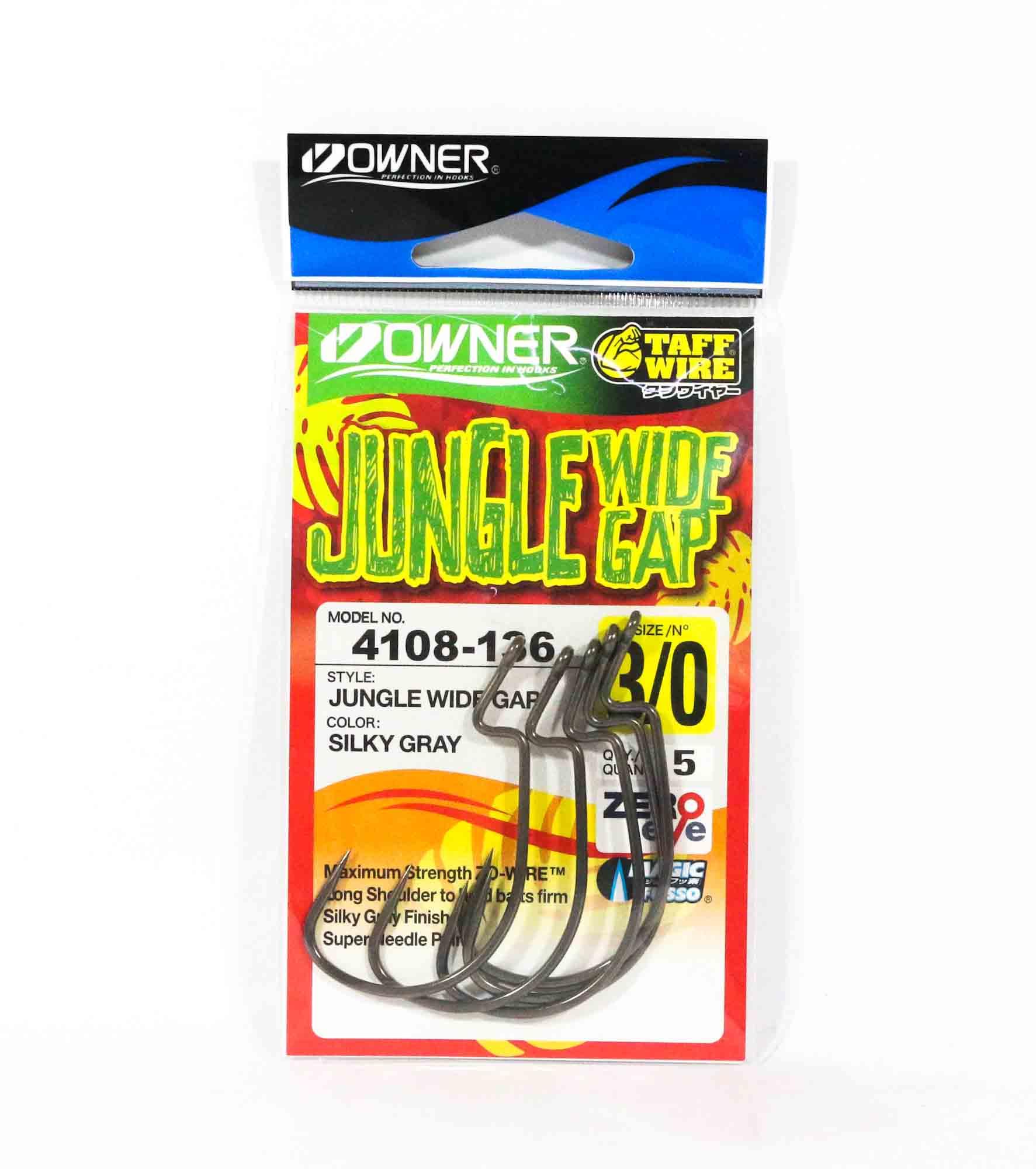 Owner 54108 Jungle Wide Gap Worm Hook Size 3/0 (8060)