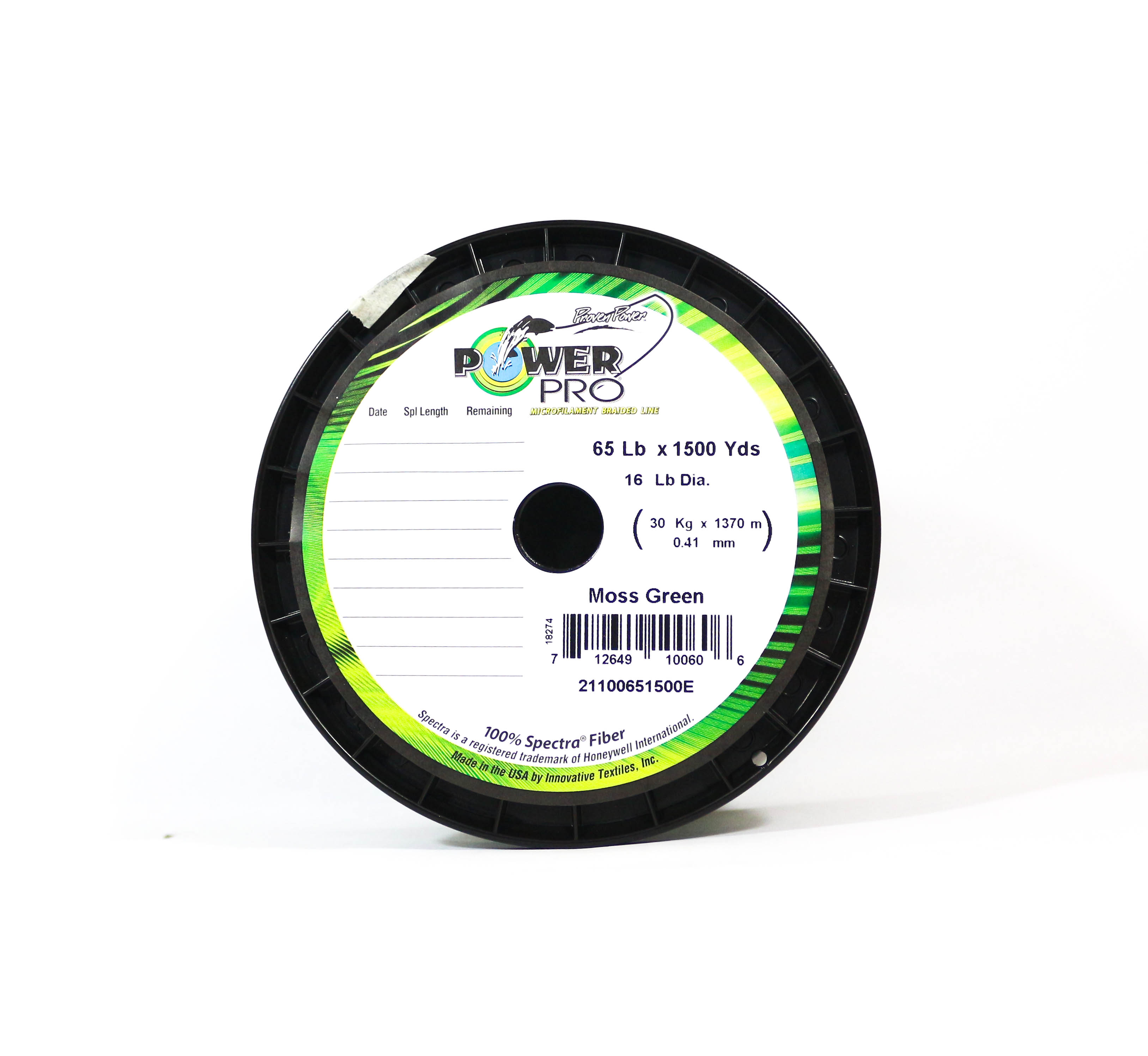 Power Pro Braided Spectra Line 65lb by 1500yds Green (0606)