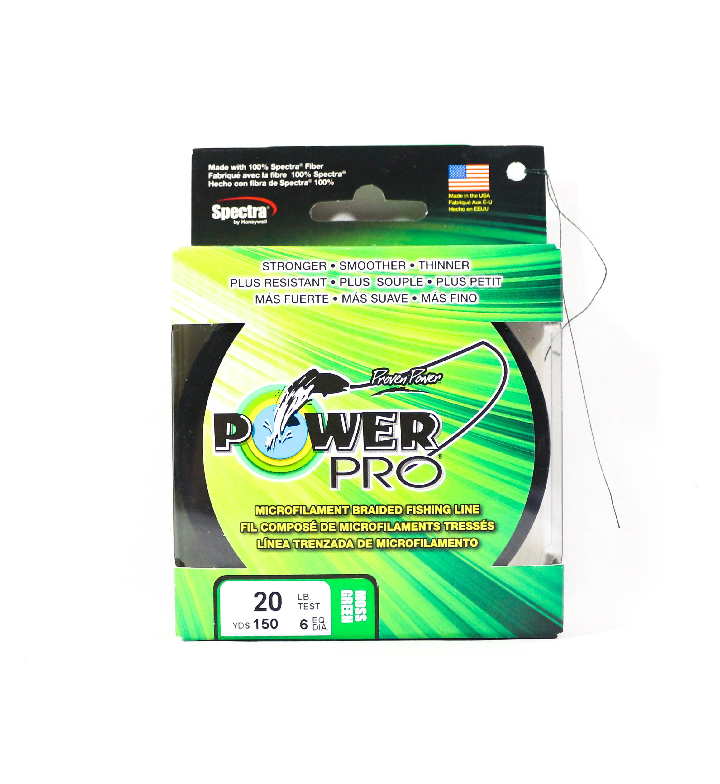 Power Pro Braided Spectra Line 20lb by 150yds Green (1085)