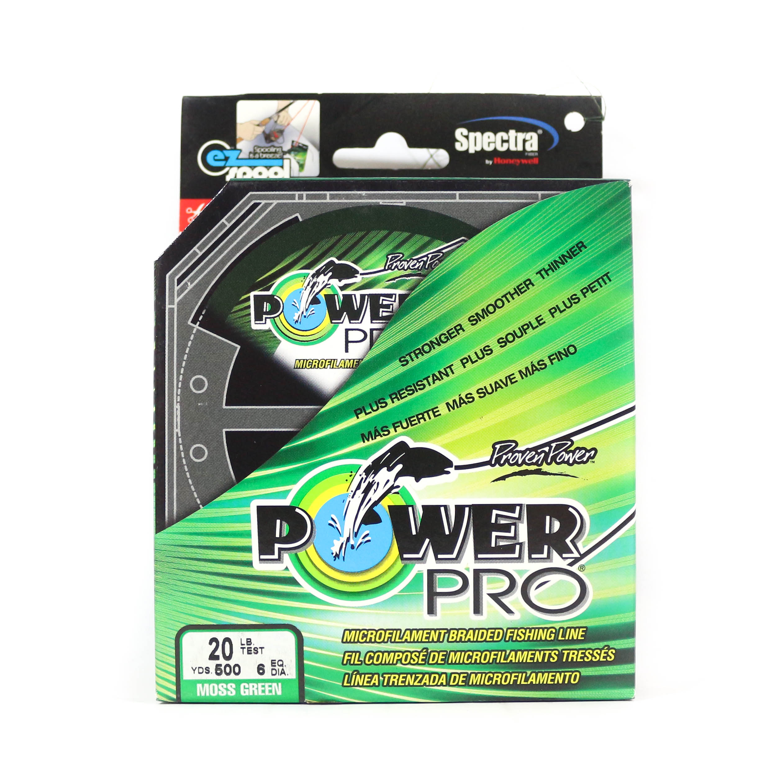 Power Pro Braided Spectra Line 20lb by 500yds Green (1207)