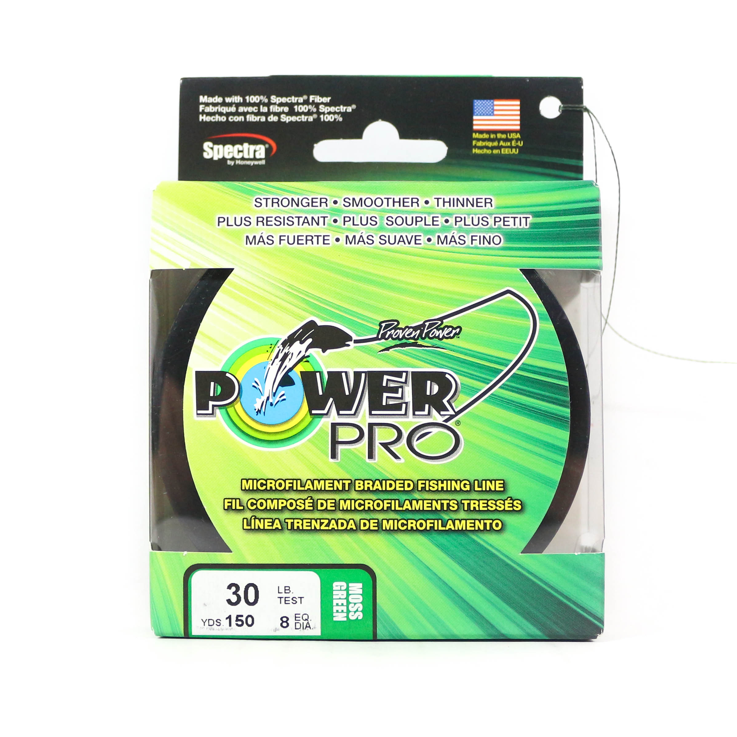 Power Pro Braided Spectra Line 30lb by 150yds Green (1283)