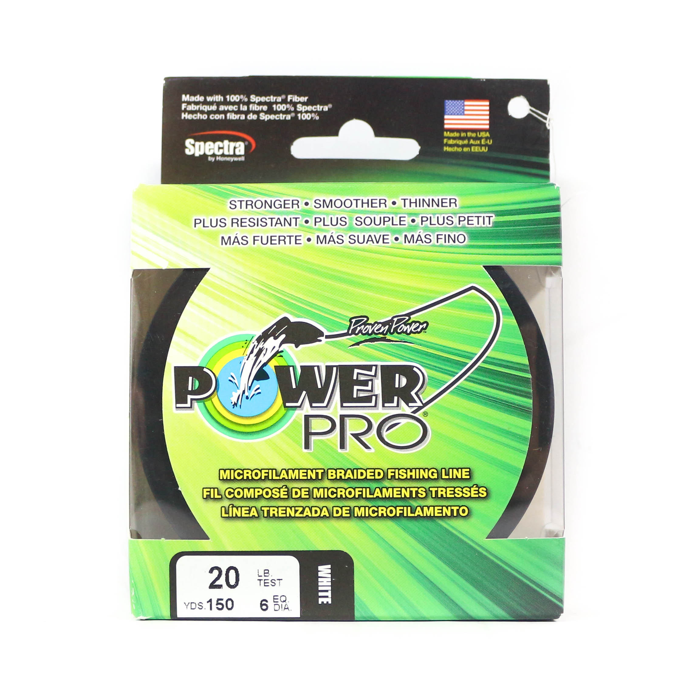 Power Pro Braided Spectra Line 20lb by 150yds White (1511)