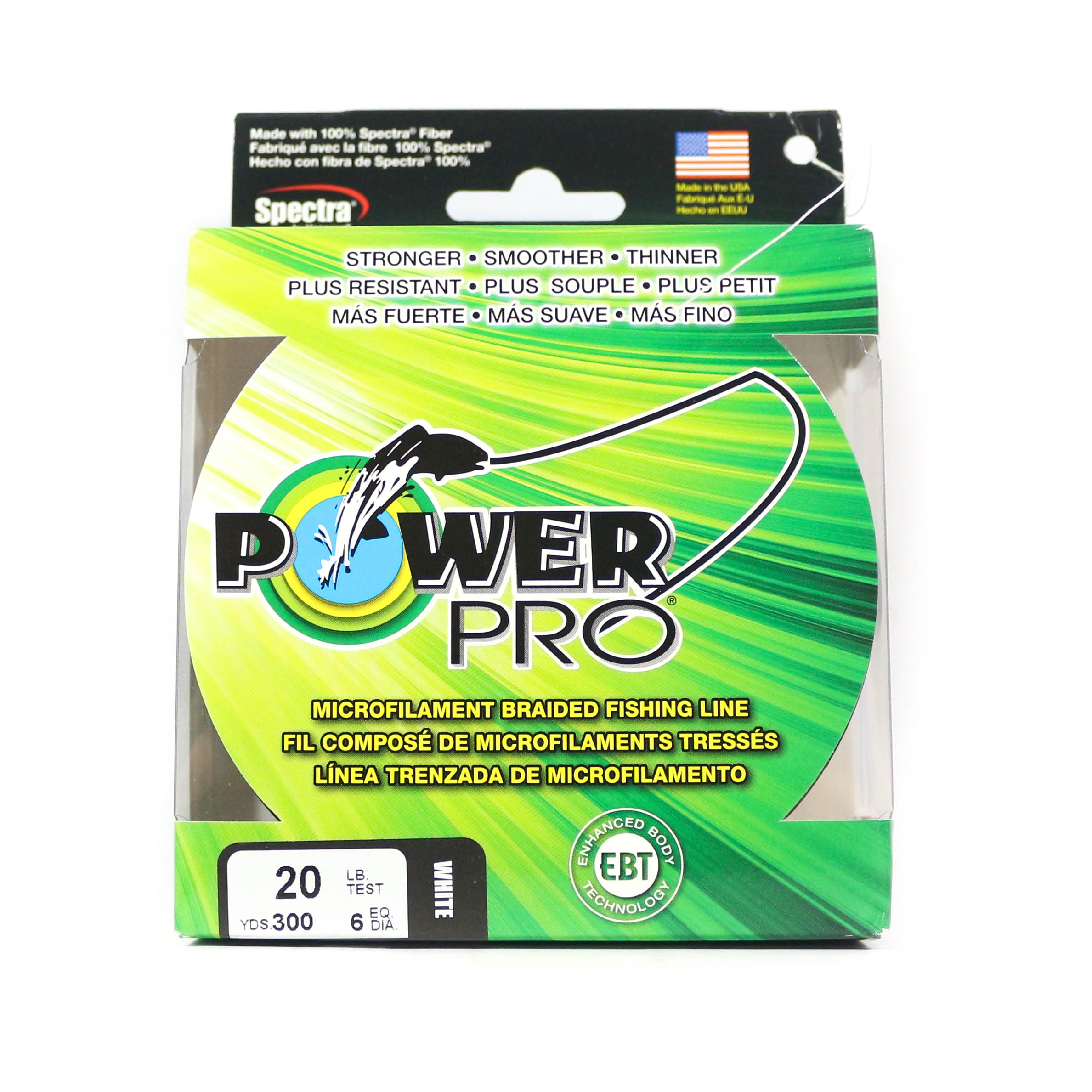 Power Pro Braided Spectra Line 20lb by 300yds White (1528)