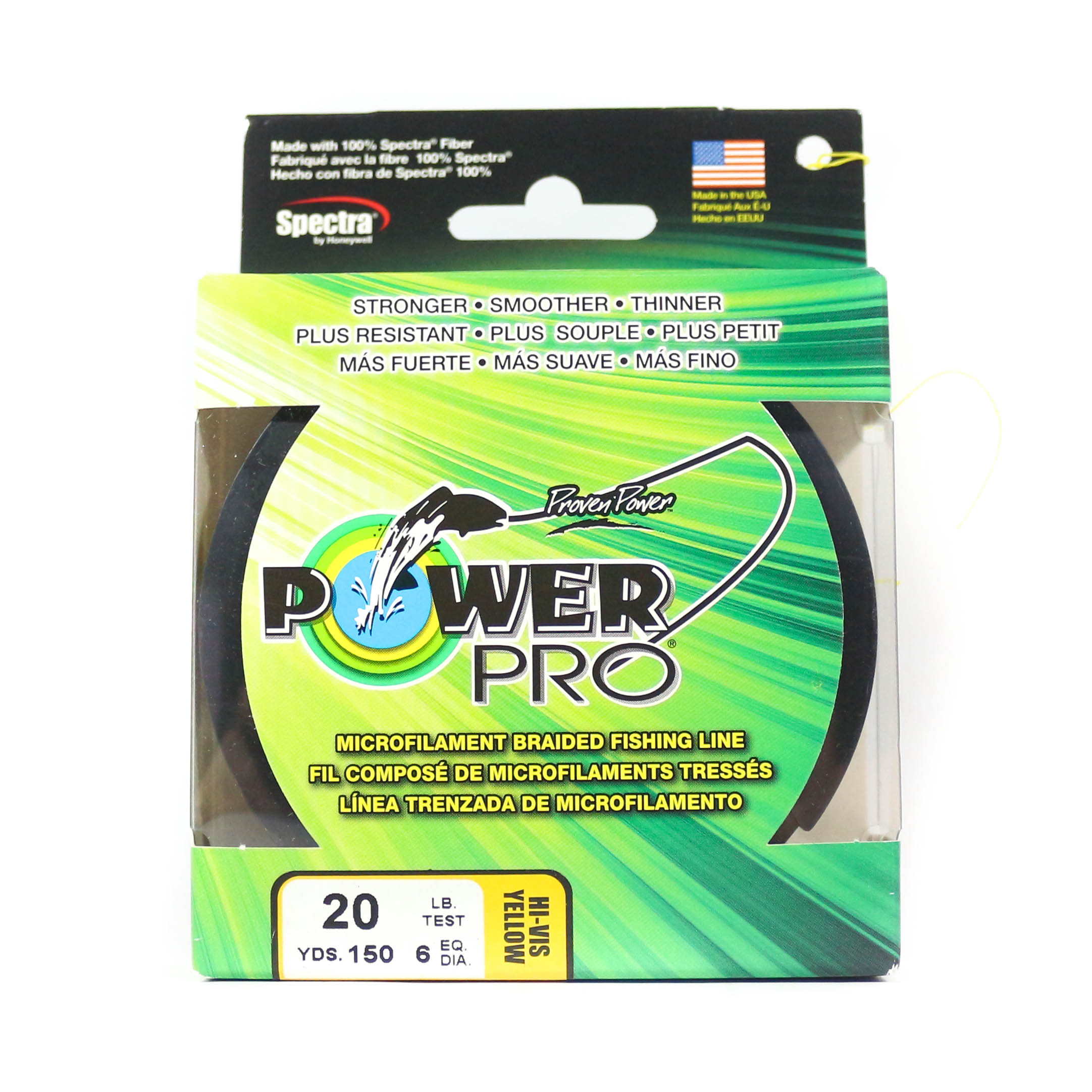 Power Pro Braided Spectra Line 20lb by 150yds Yellow (2525)