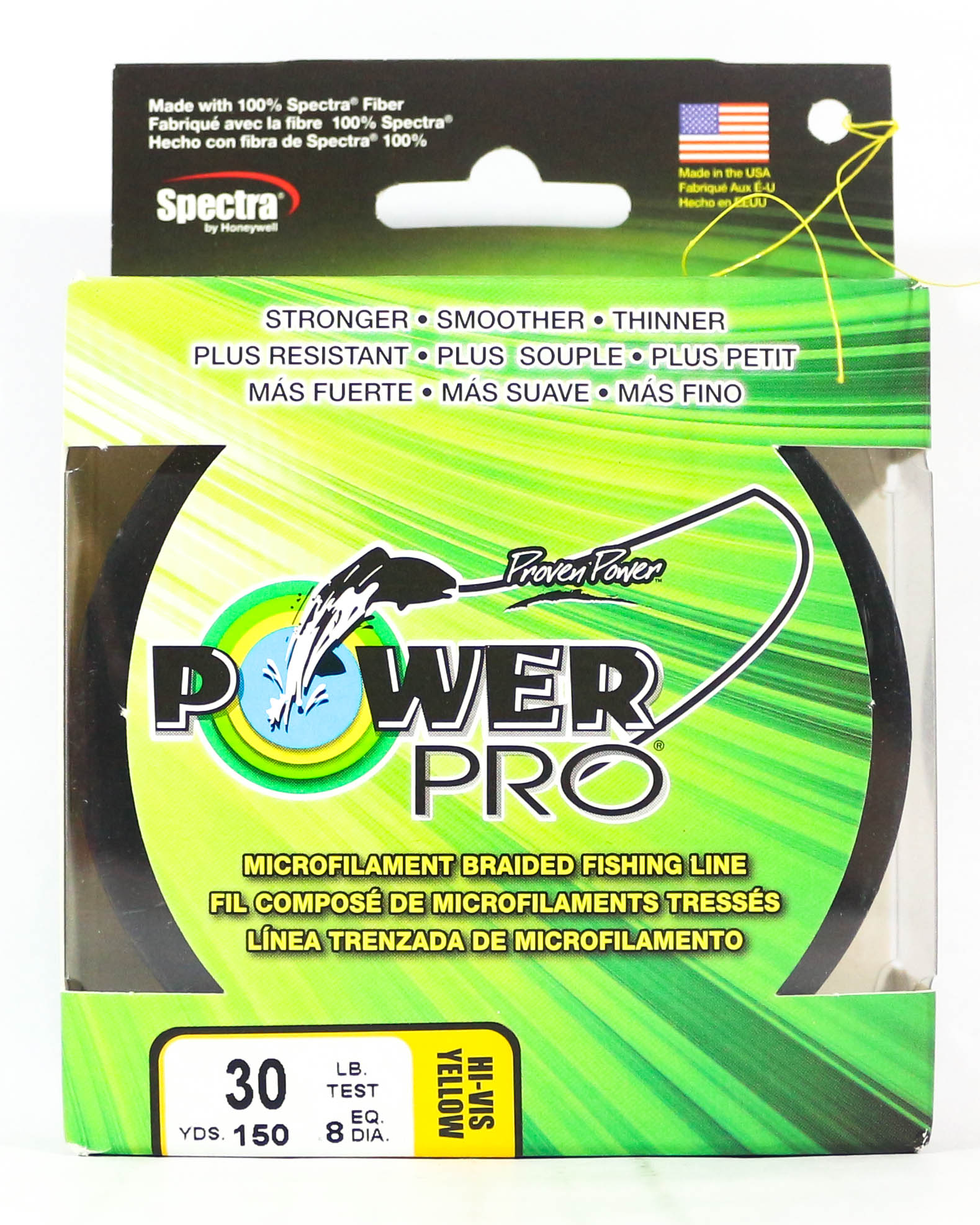 Power Pro Braided Spectra Line 30lb by 150yds Yellow (2563)