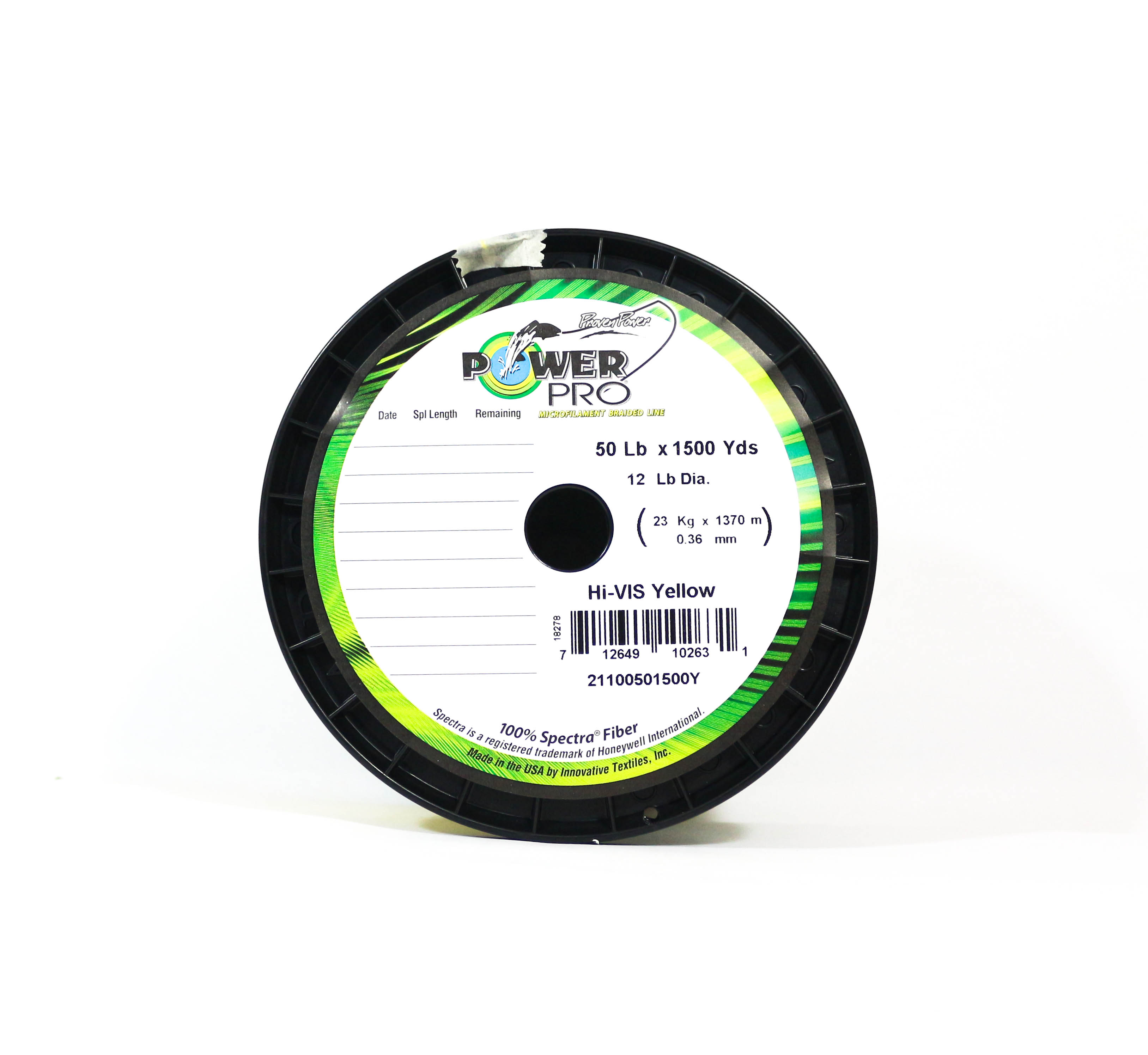 Power Pro Braided Spectra Line 50lb by 1500yds Yellow (2631)