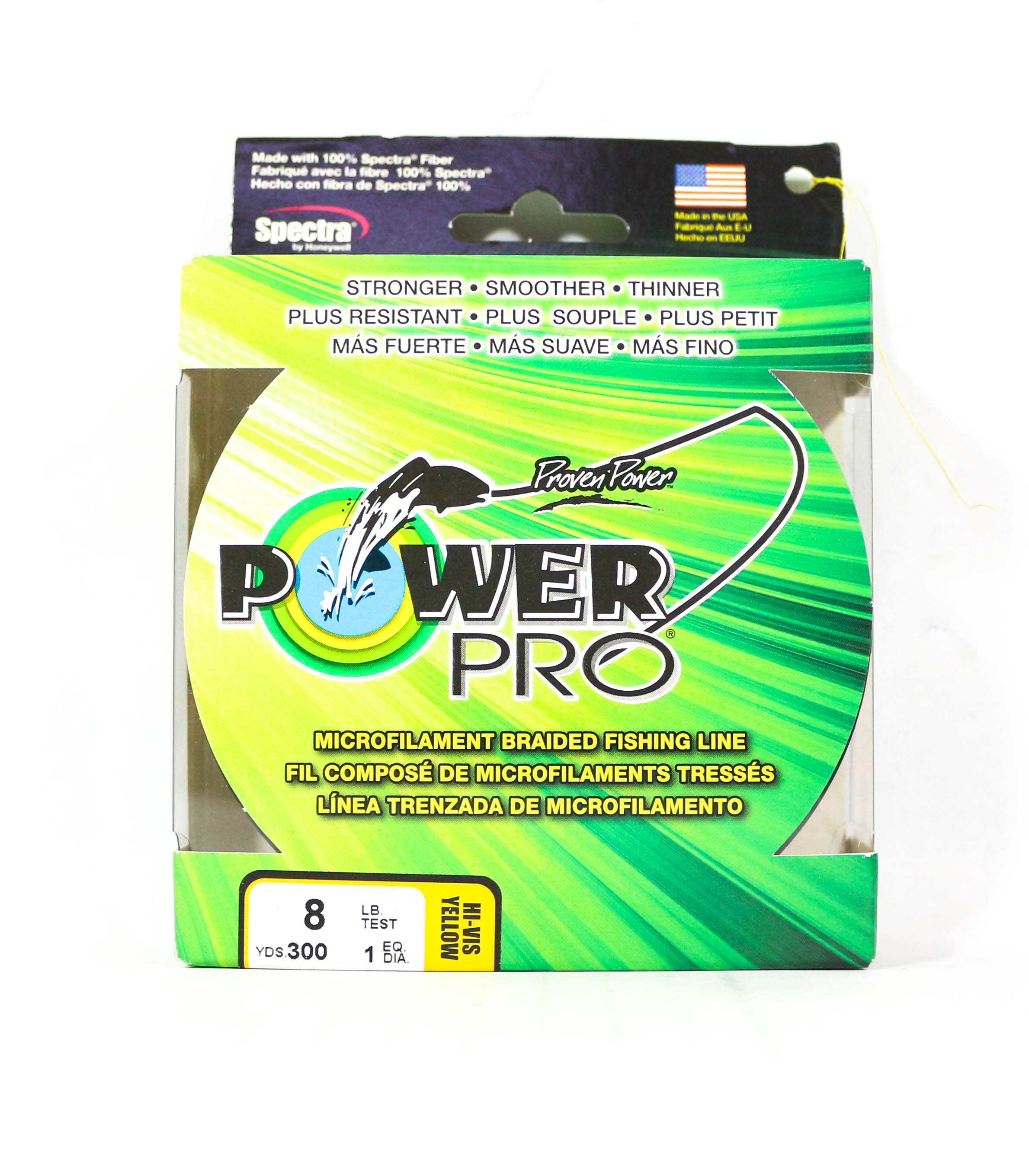 Power Pro Braided Spectra Line 8lb by 300yds Yellow (4925)