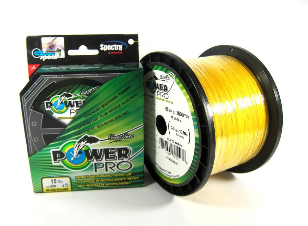 Power Pro Braided Spectra Line 40lb by 1500yds Yellow (6455)