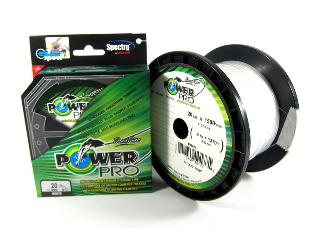 Power Pro Braided Spectra Line 40lb by 500yds White (6738)
