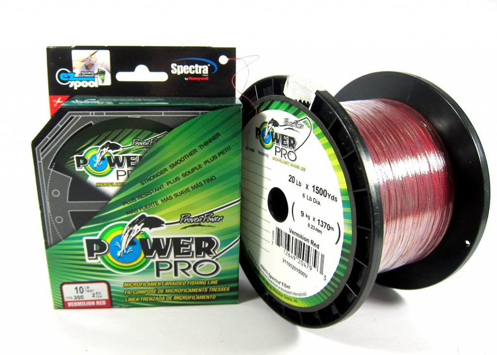 Power Pro Braided Spectra Line 8lb by 300yds Red (4595)