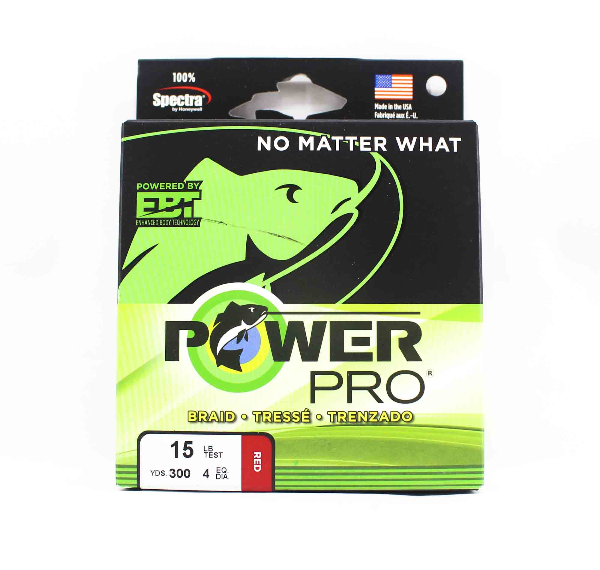 Power Pro Braided Spectra Line 15lb by 300yds Red (4717)