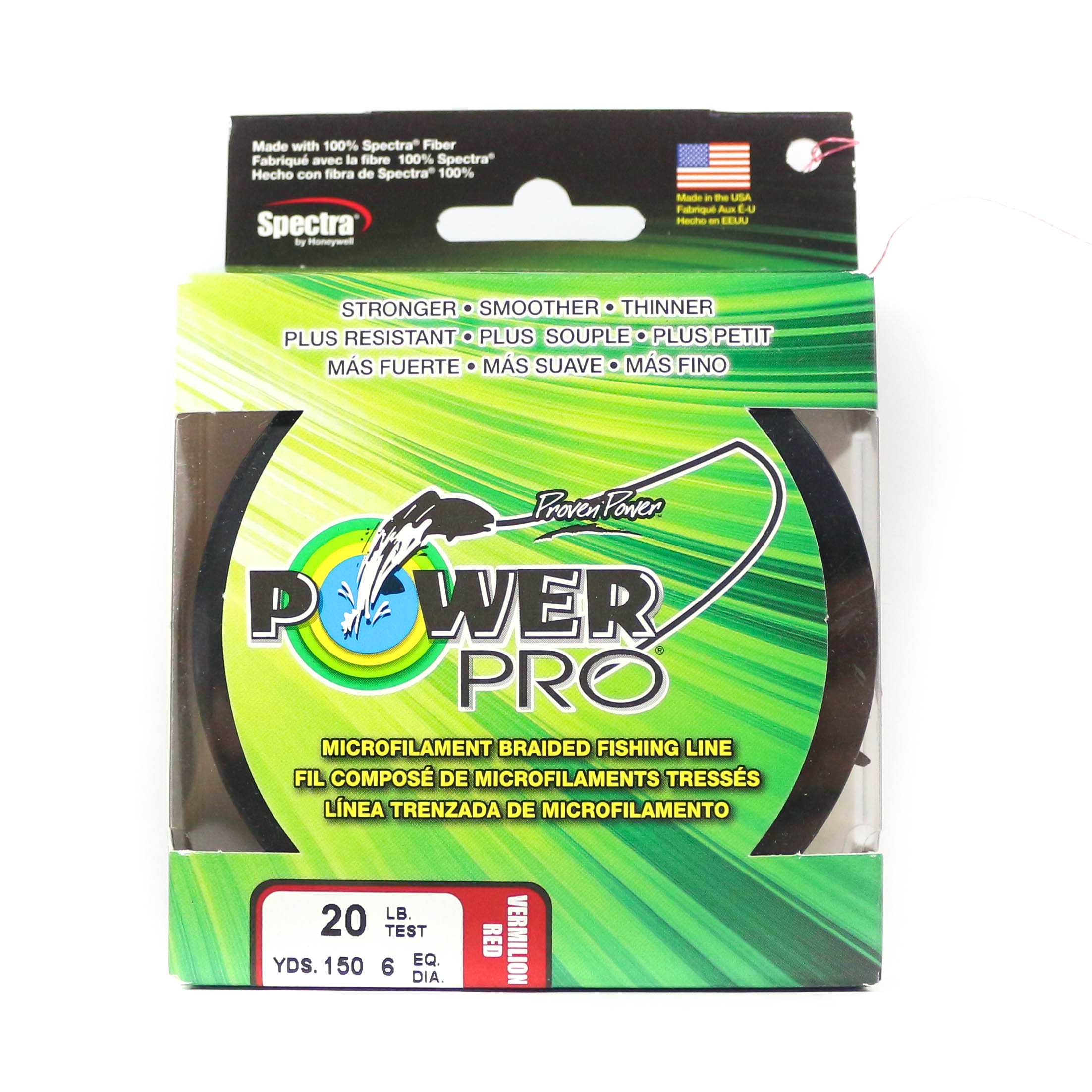 Power Pro Braided Spectra Line 20lb by 150yds Red (4762)