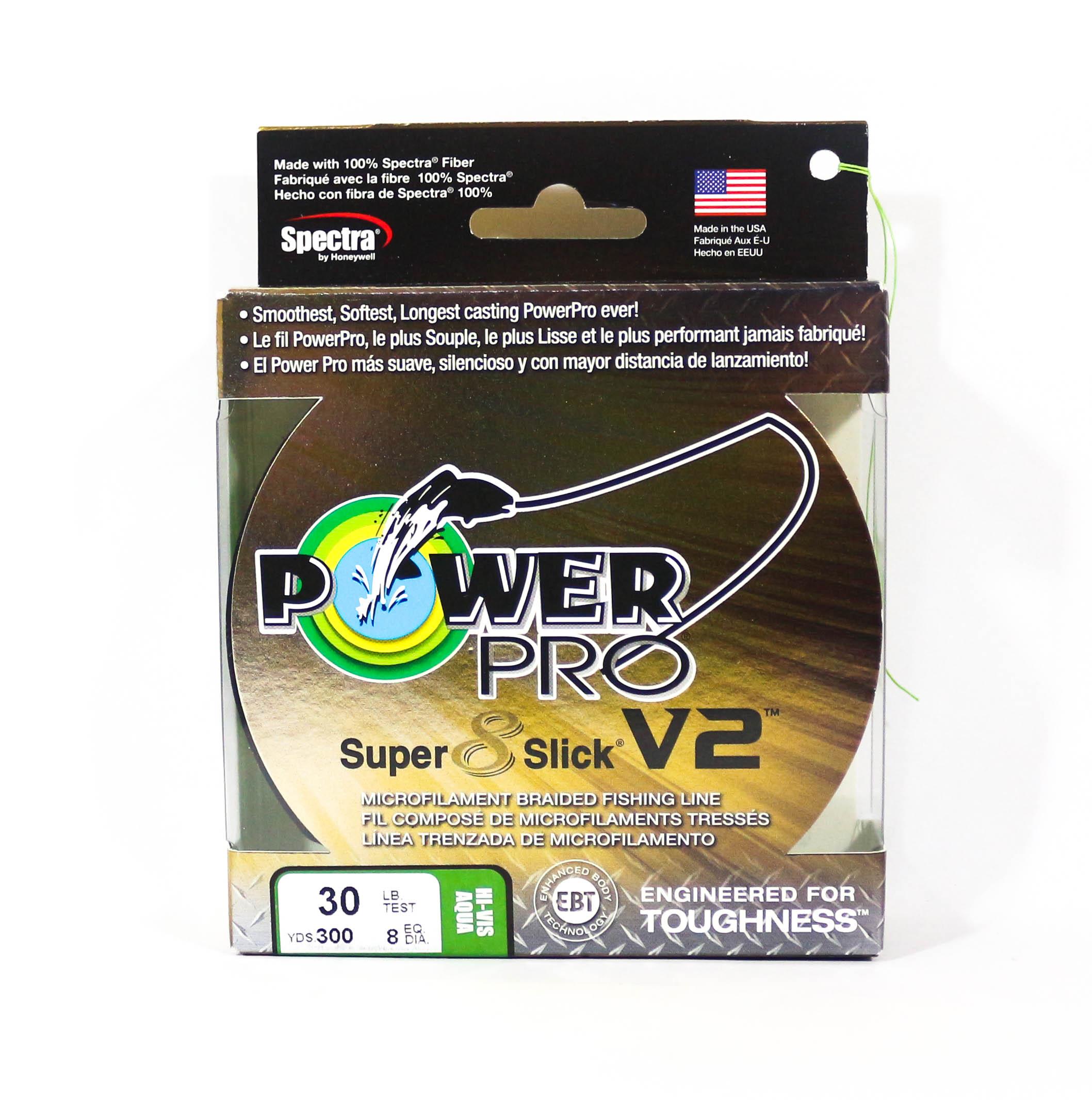 Power Pro Super 8 Slick Version 2 Spectra Line 30lb by 300yds Aqua (8219)