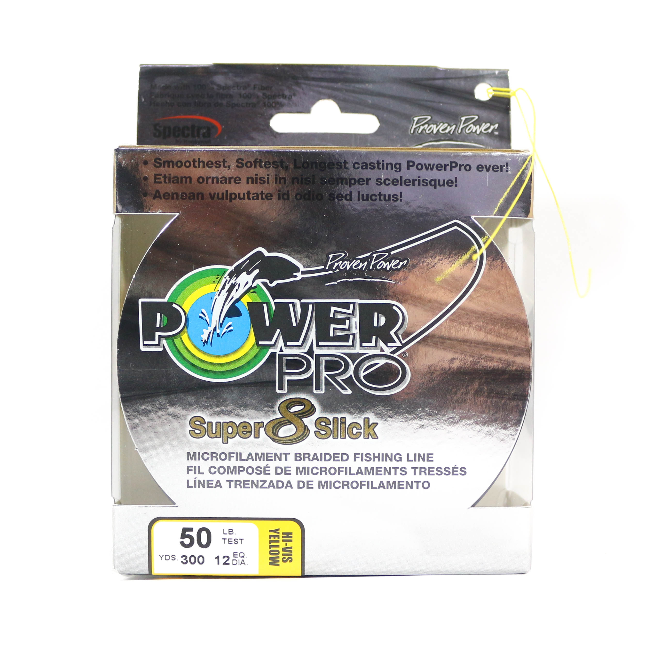 Power Pro Super 8 Slick Spectra Line 50lb by 300yds Yellow (0022)