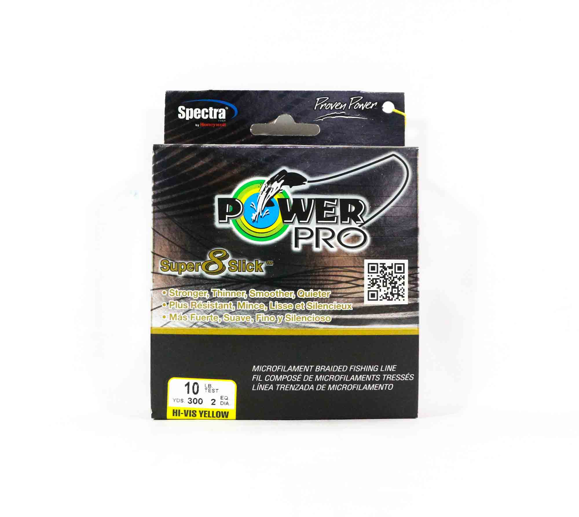 Power Pro Super 8 Slick Spectra Line 10lb by 300yds Yellow (9972)