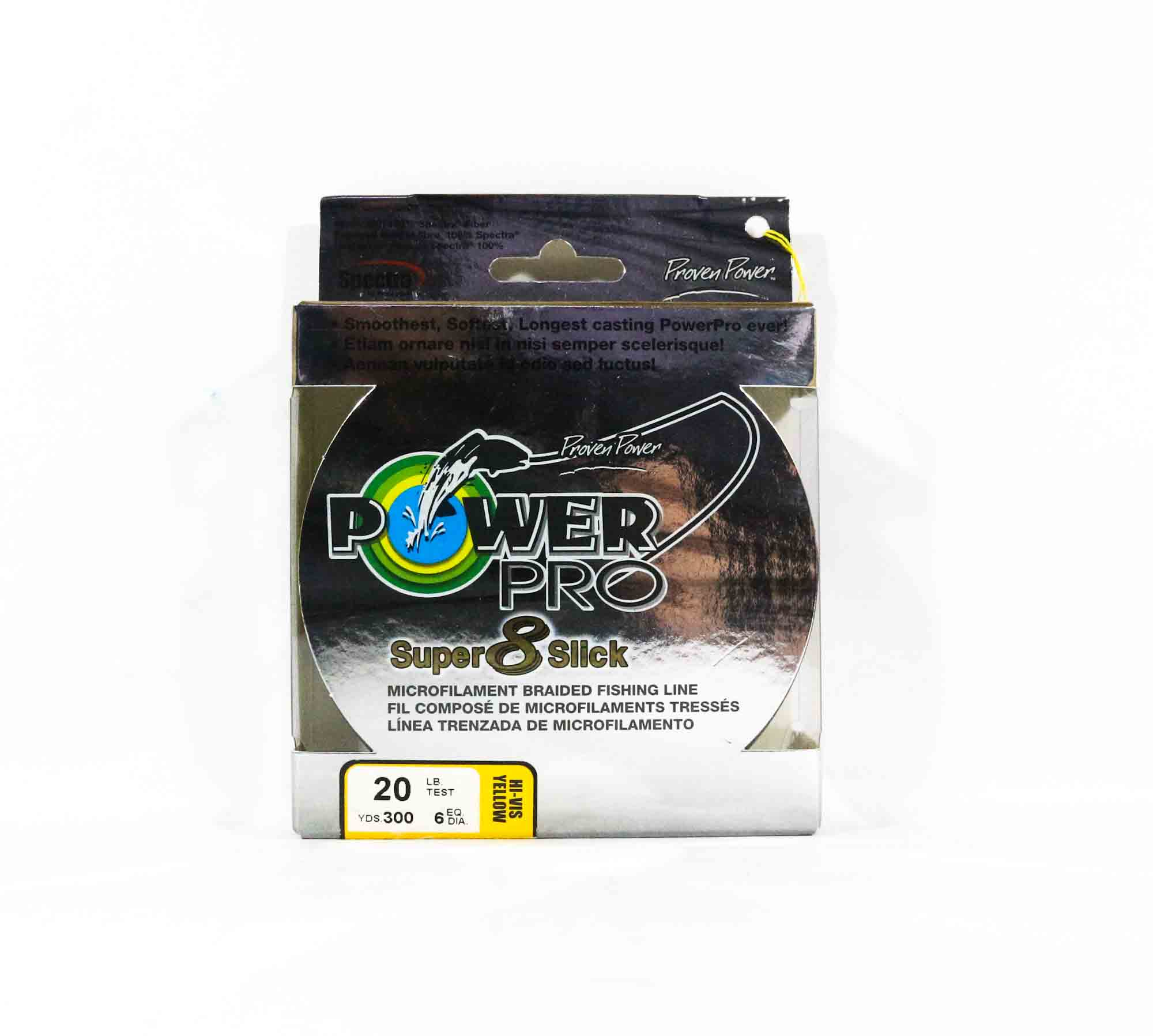 Power Pro Super 8 Slick Spectra Line 20lb by 300yds Yellow (9996)