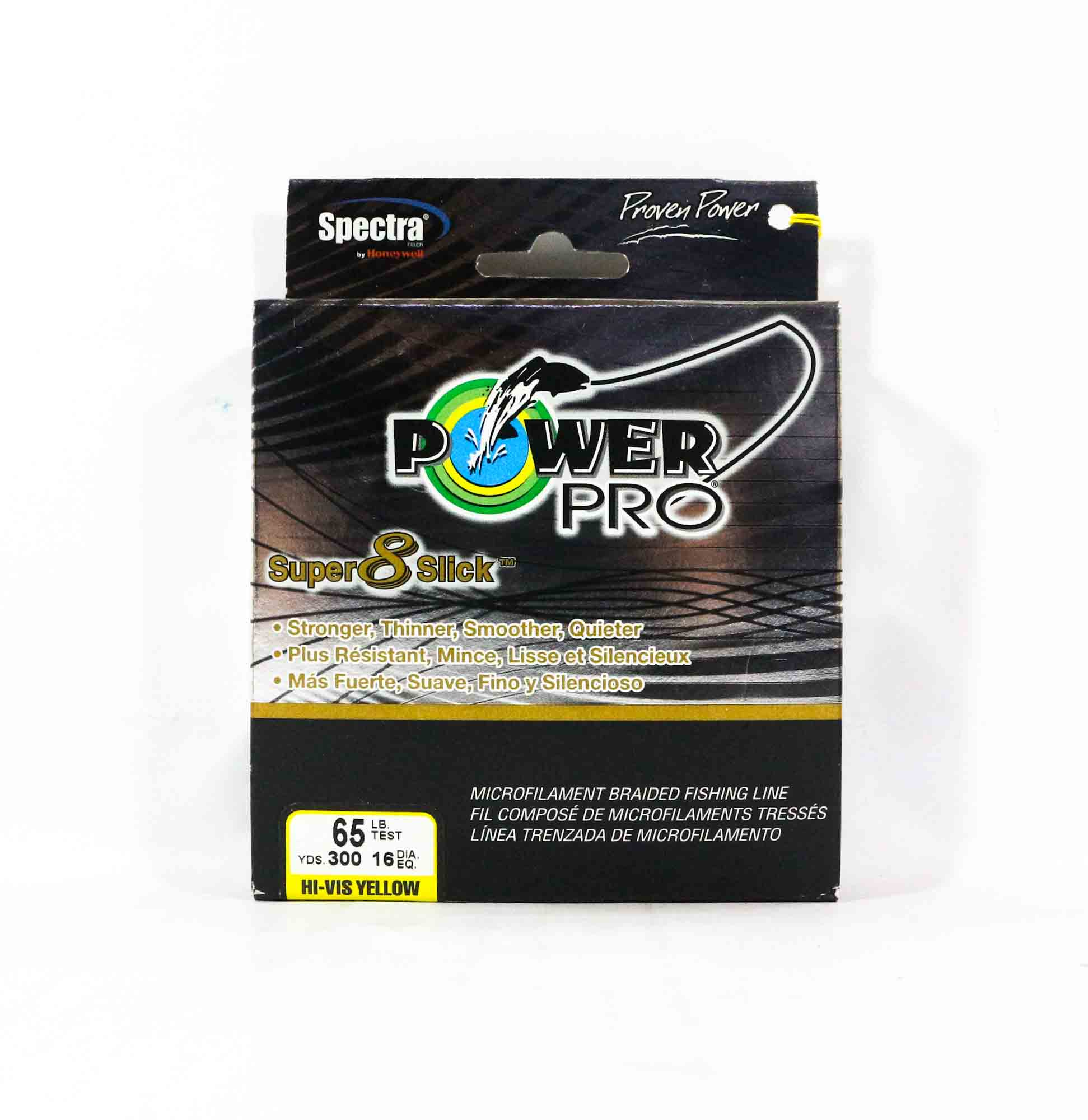 Power Pro Super 8 Slick Spectra Line 65lb by 300yds Yellow (0039)