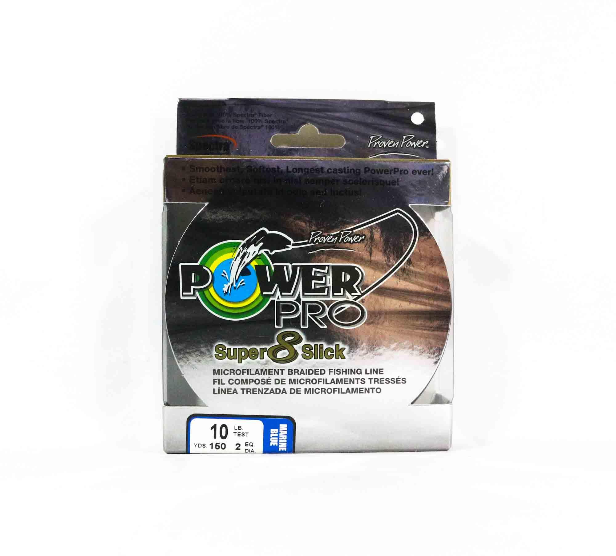 Power Pro Super 8 Slick Spectra Line 10lb by 150yds Blue (0138)