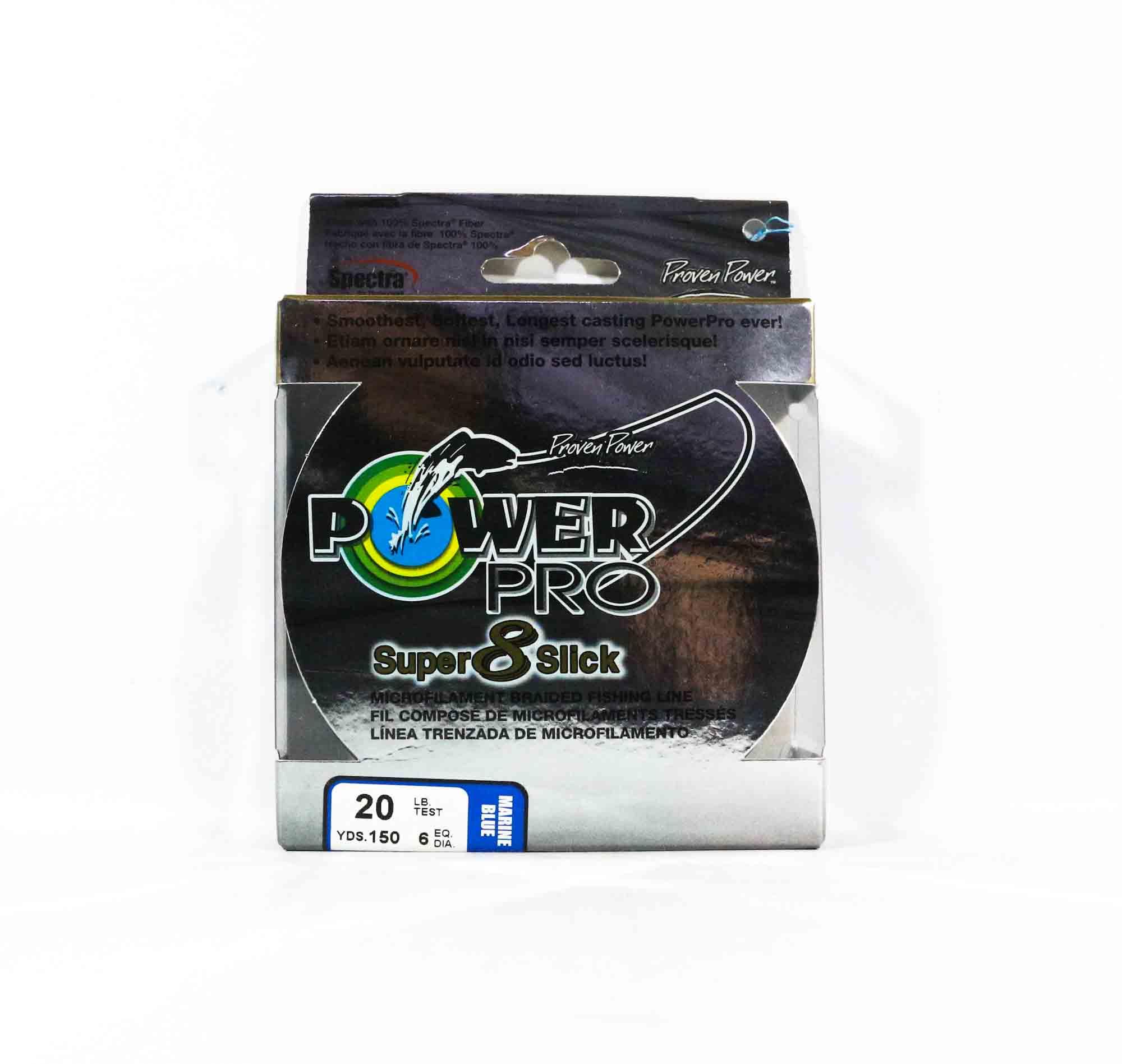 Power Pro Super 8 Slick Spectra Line 20lb by 150yds Blue (0152)