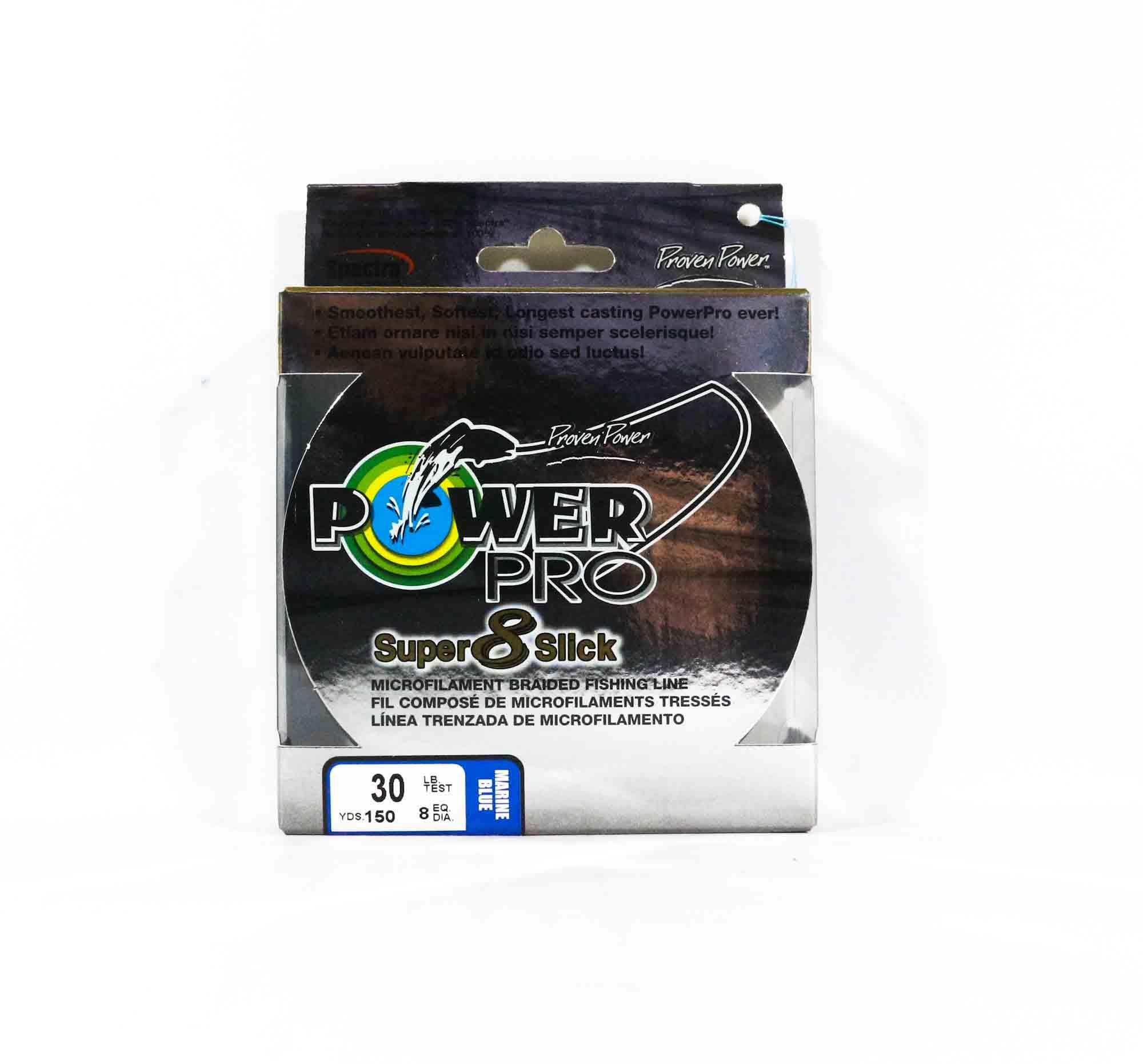 Power Pro Super 8 Slick Spectra Line 30lb by 150yds Blue (0169)
