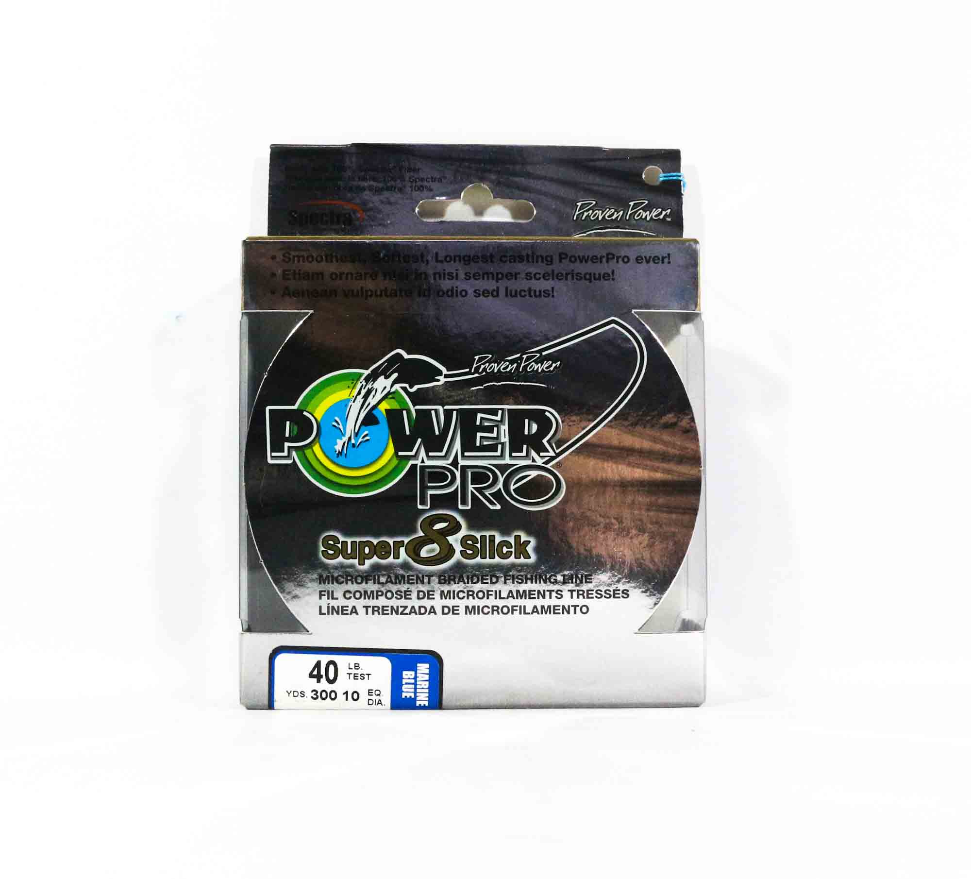 Power Pro Super 8 Slick Spectra Line 40lb by 300yds Blue (0251)