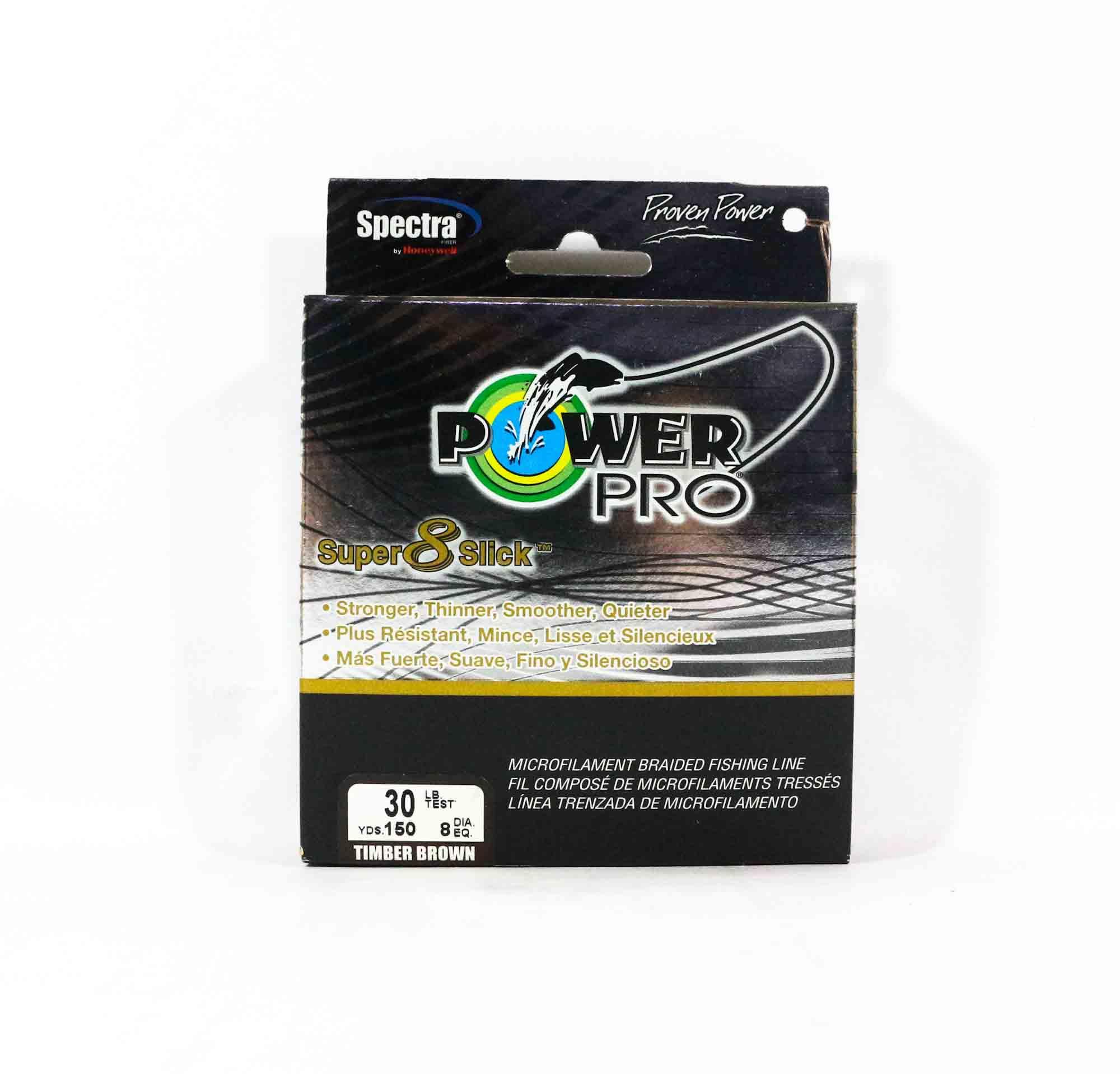 Power Pro Super 8 Slick Spectra Line 30lb by 150yds Brown (0404)