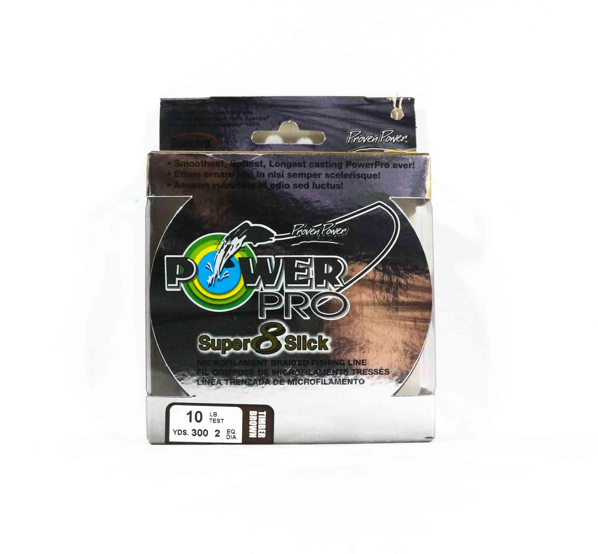 Power Pro Super 8 Slick Spectra Line 10lb by 300yds Brown (0459)