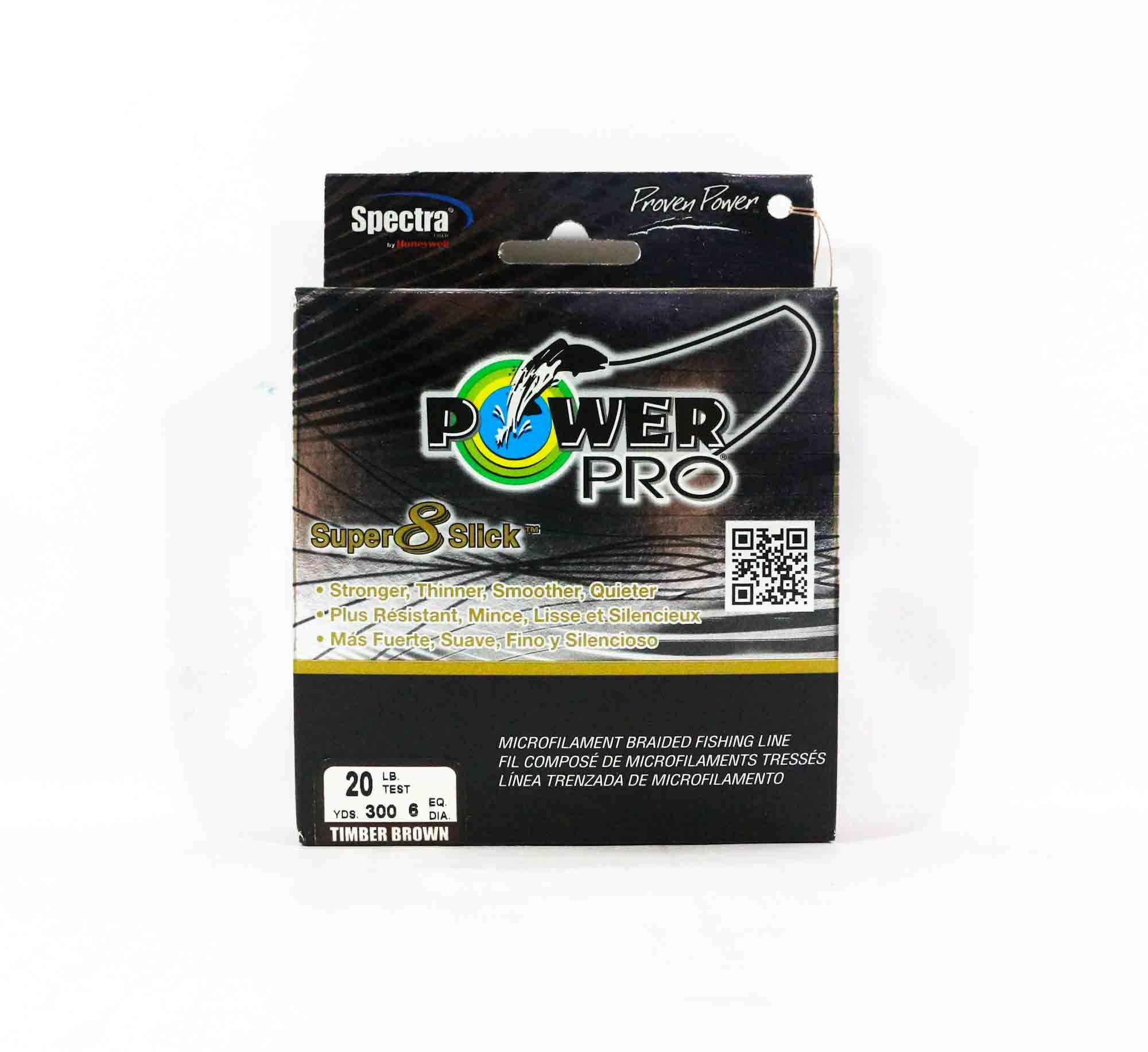 Power Pro Super 8 Slick Spectra Line 20lb by 300yds Brown (0473)
