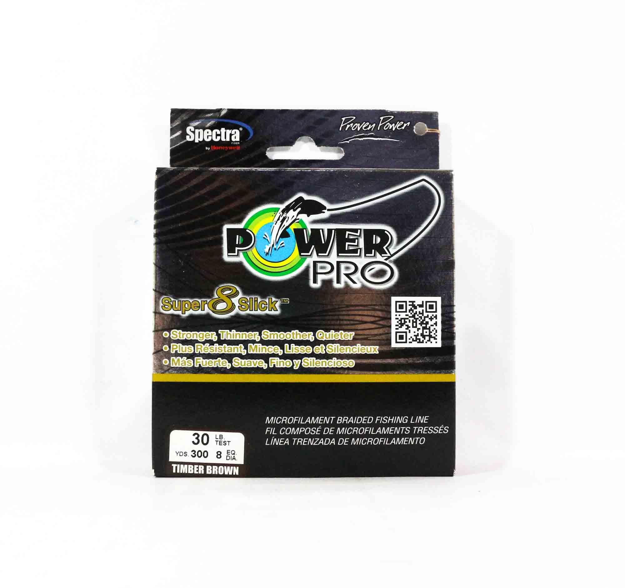 Power Pro Super 8 Slick Spectra Line 30lb by 300yds Brown (0480)