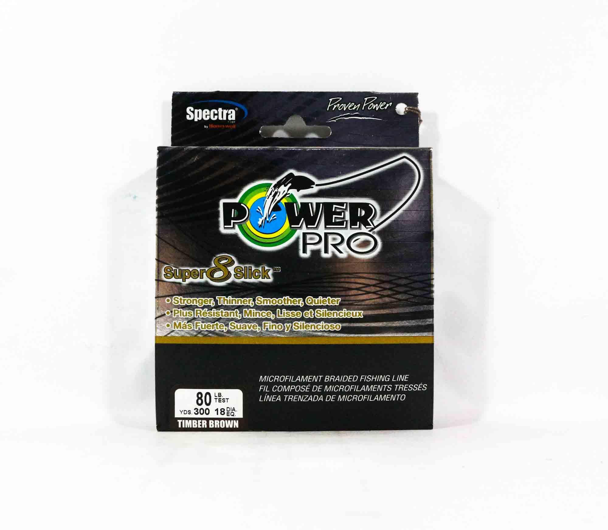 Power Pro Super 8 Slick Spectra Line 80lb by 300yds Brown (0527)