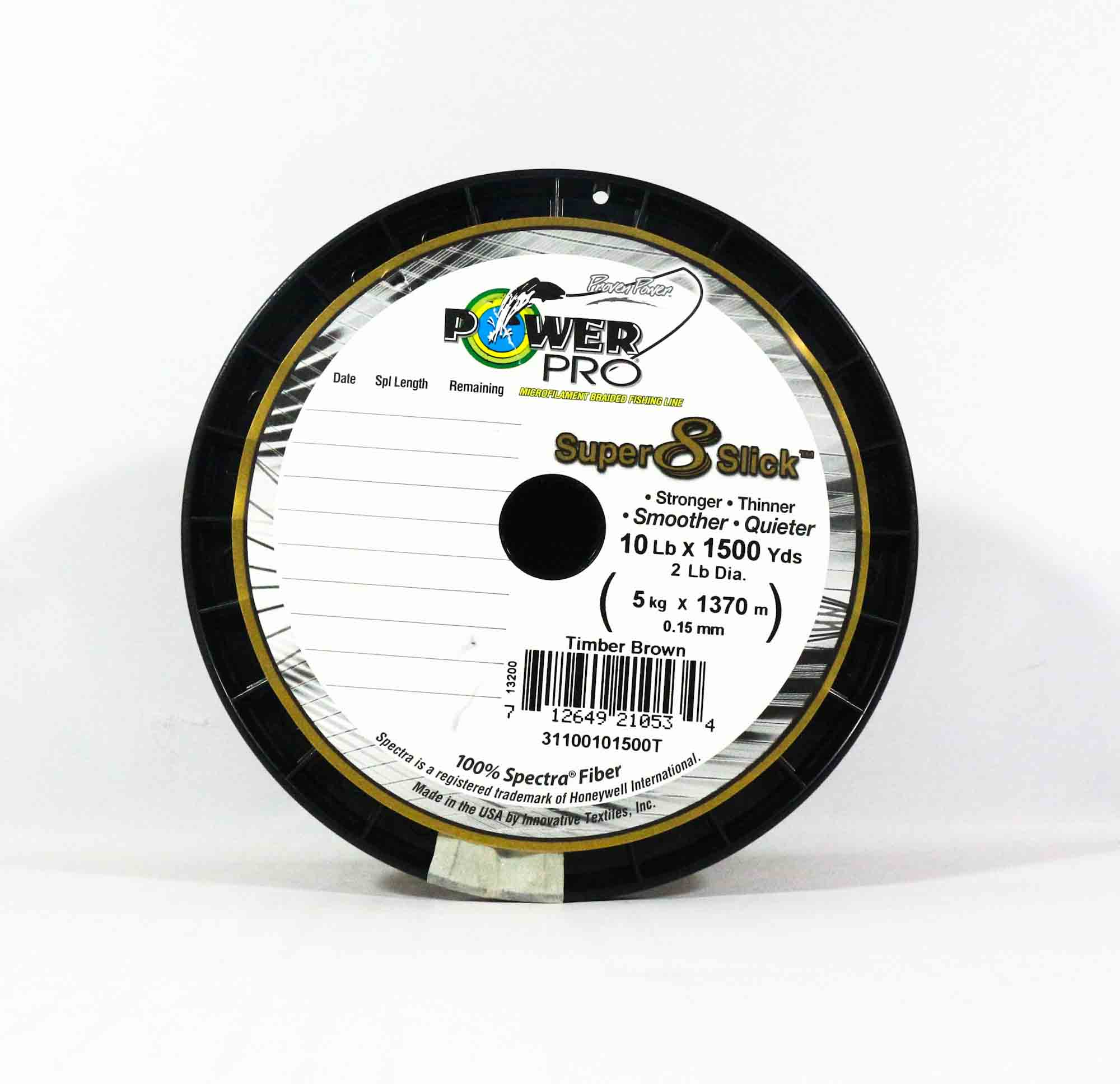 Power Pro Super 8 Slick Spectra Line 10lb by 1500yds Brown (0534)