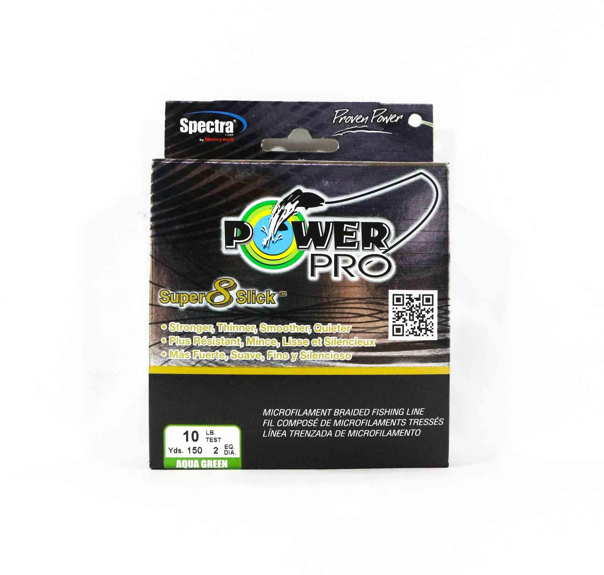 Power Pro Super 8 Slick Spectra Line 10lb by 150yds Green (0619)