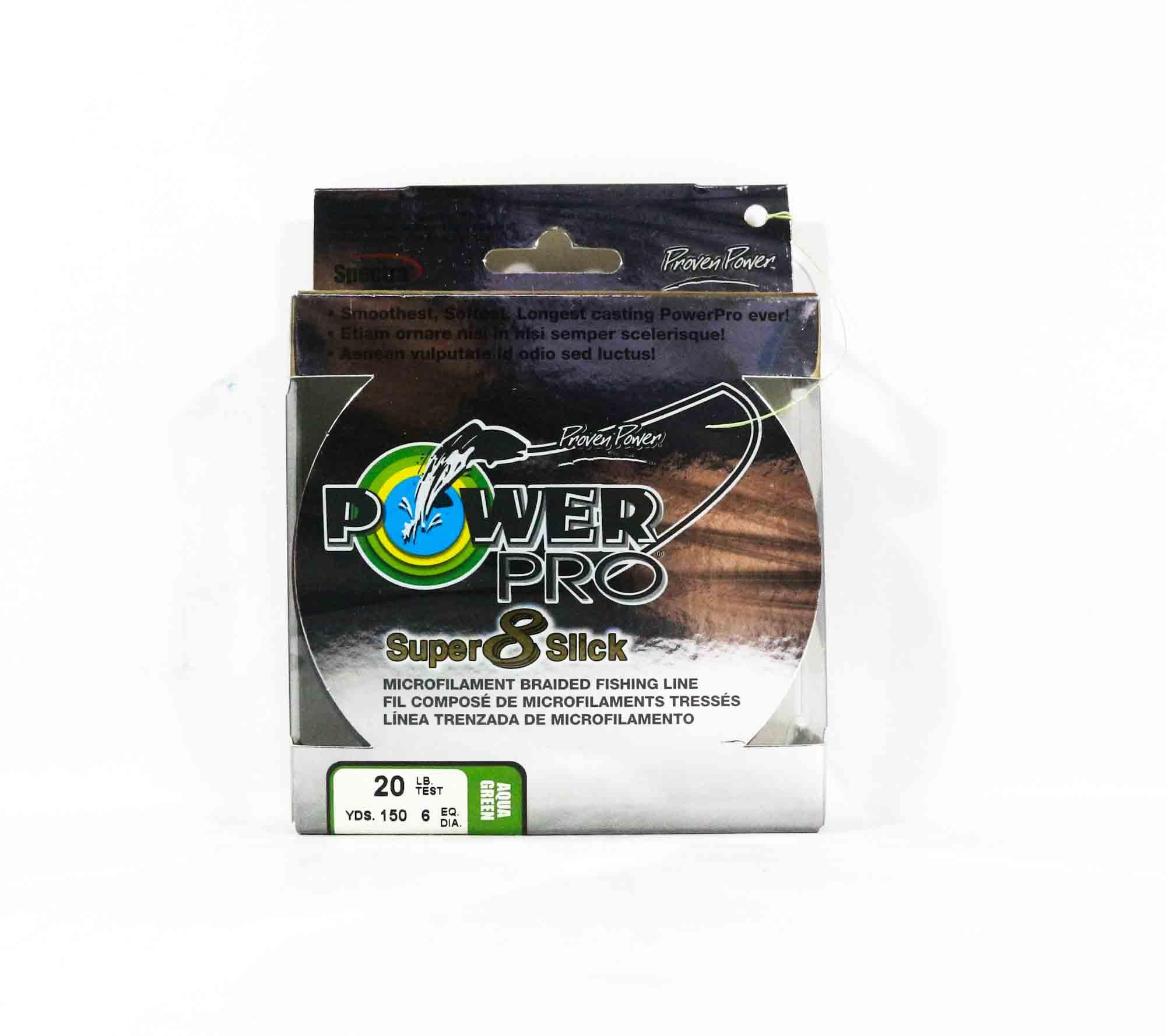 Power Pro Super 8 Slick Spectra Line 20lb by 150yds Green (0633)