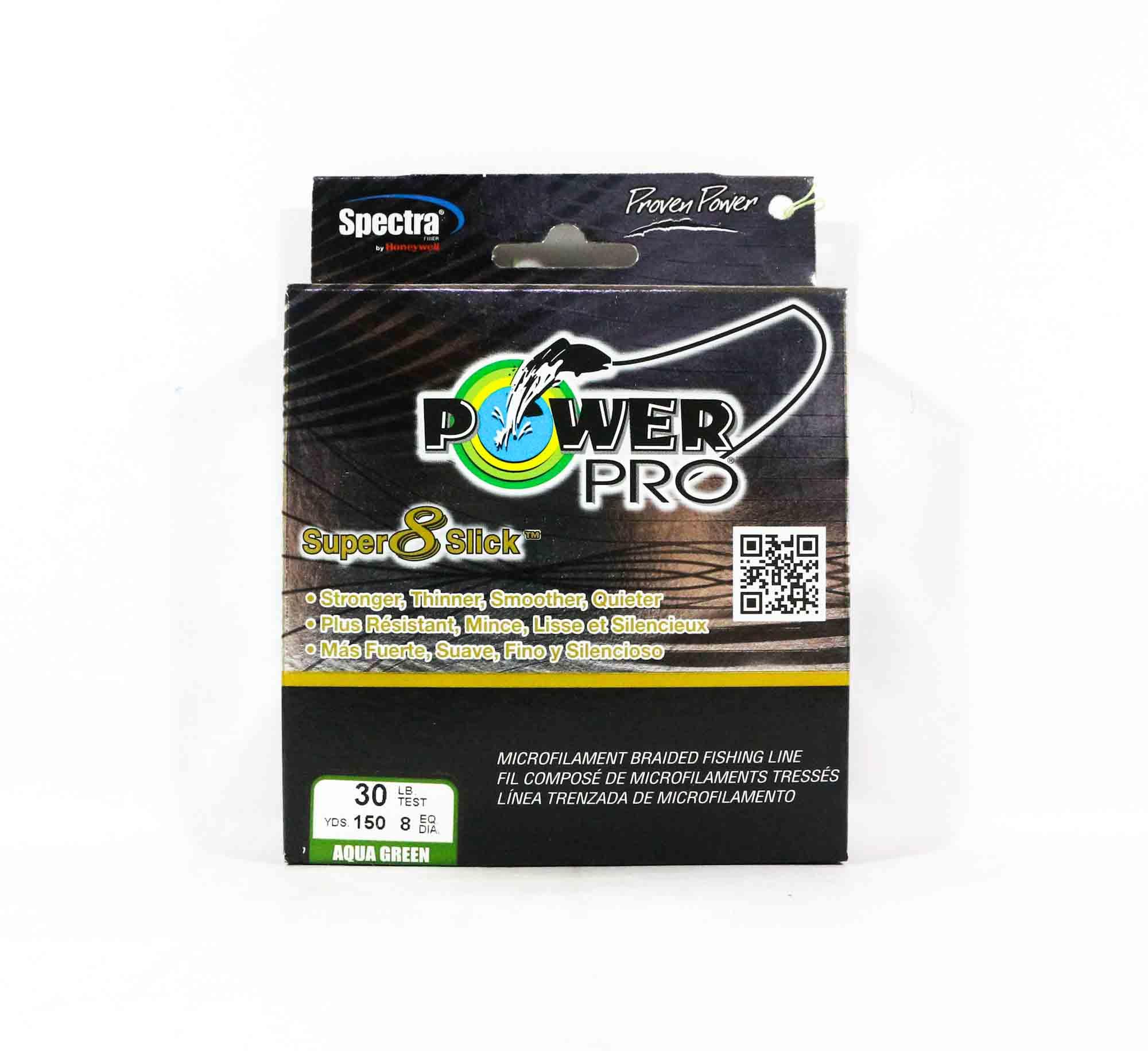 Power Pro Super 8 Slick Spectra Line 30lb by 150yds Green (0640)