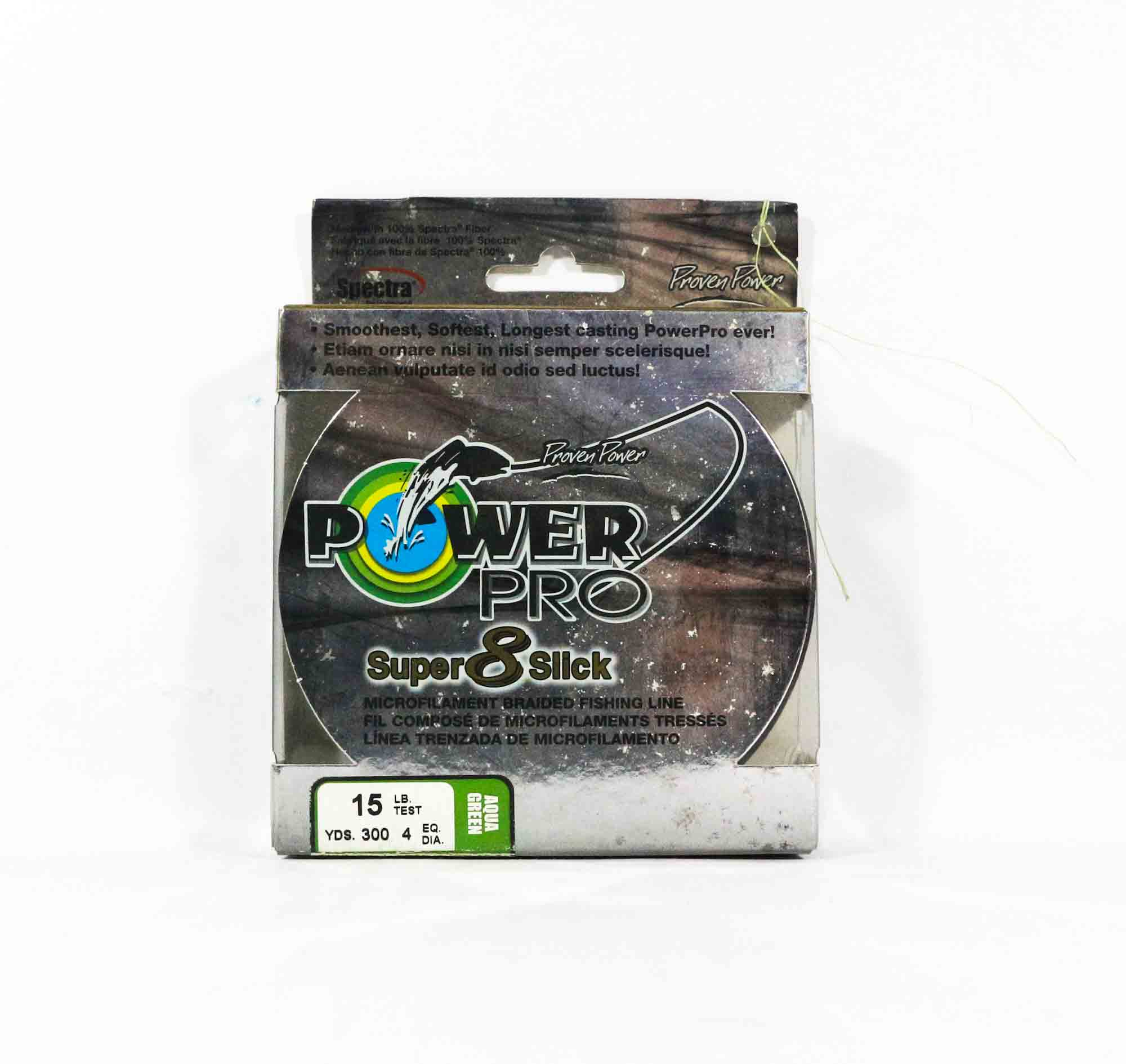 Power Pro Super 8 Slick Spectra Line 15lb by 300yds Green (0701)