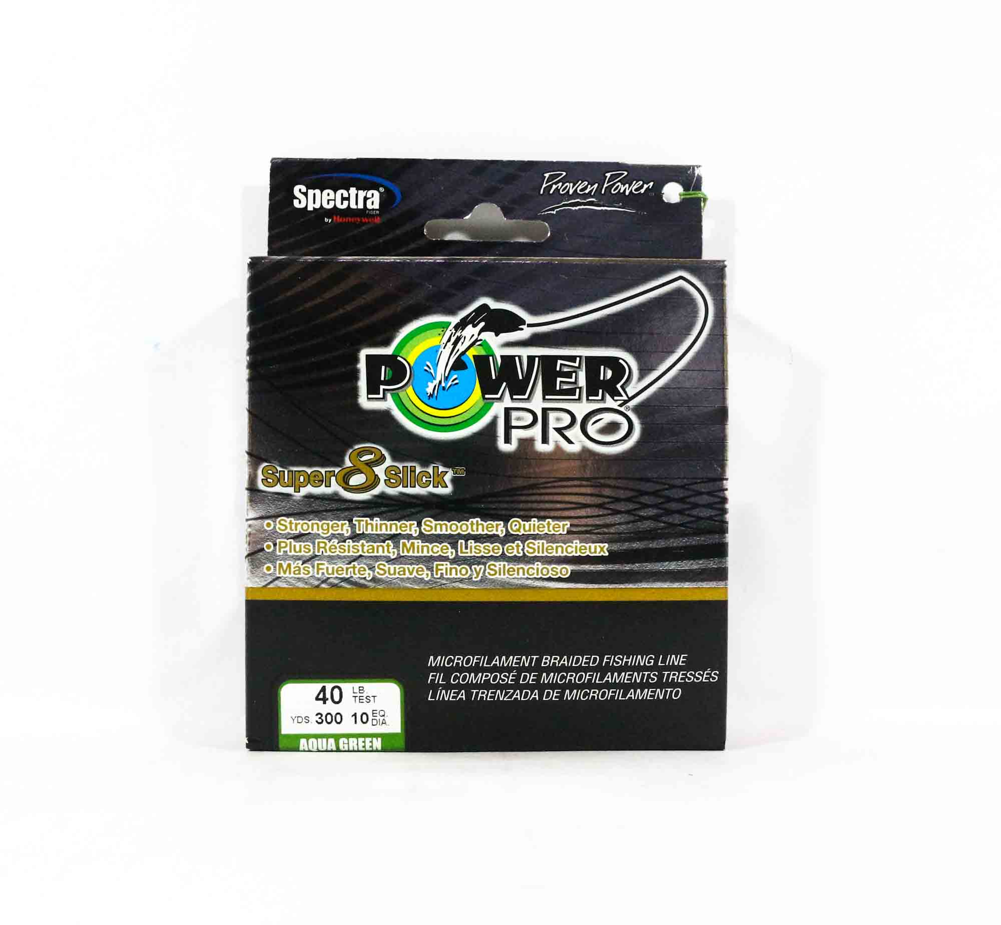 Power Pro Super 8 Slick Spectra Line 40lb by 300yds Green (0732)