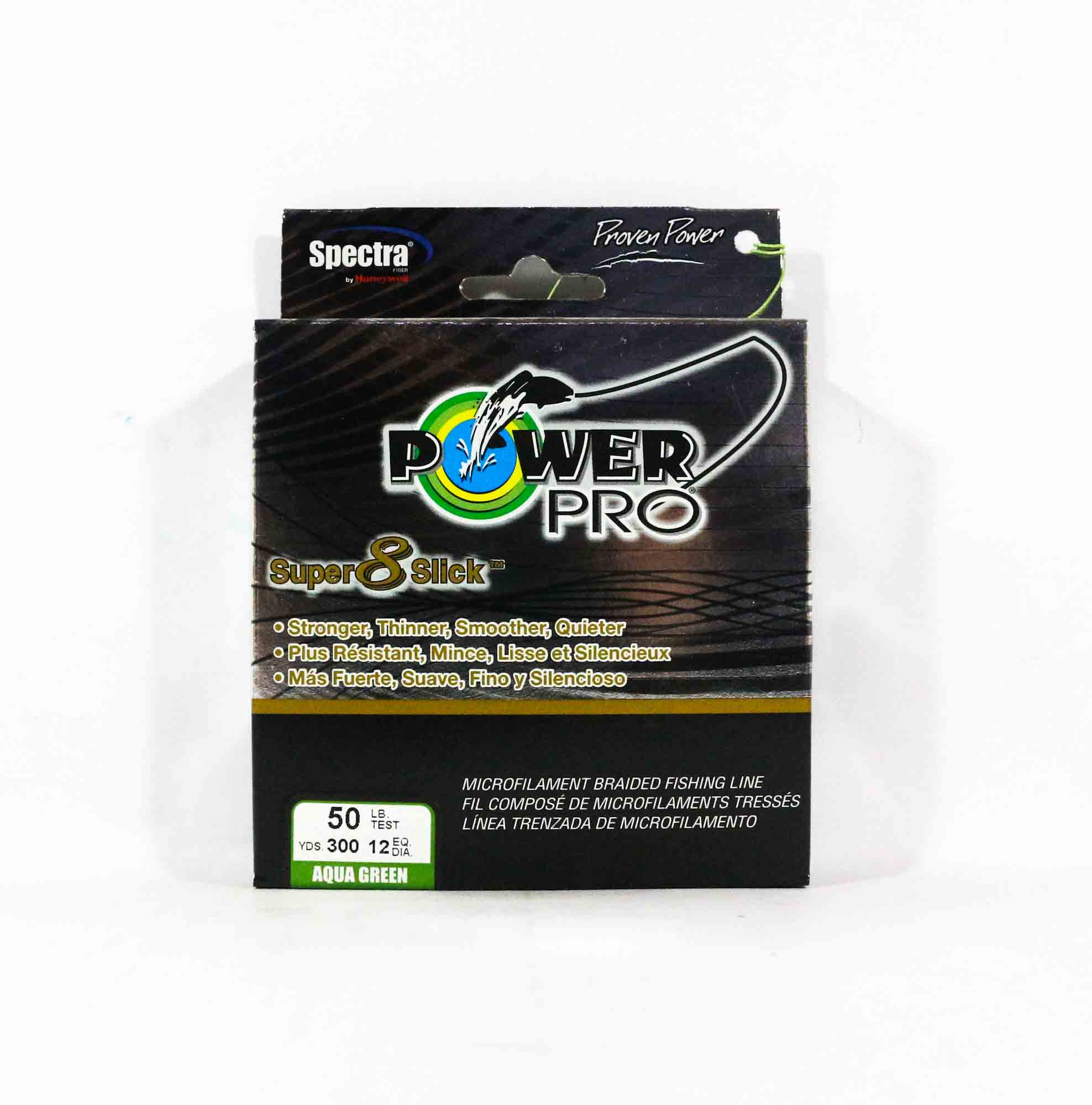 Power Pro Super 8 Slick Spectra Line 50lb by 300yds Green (0749)