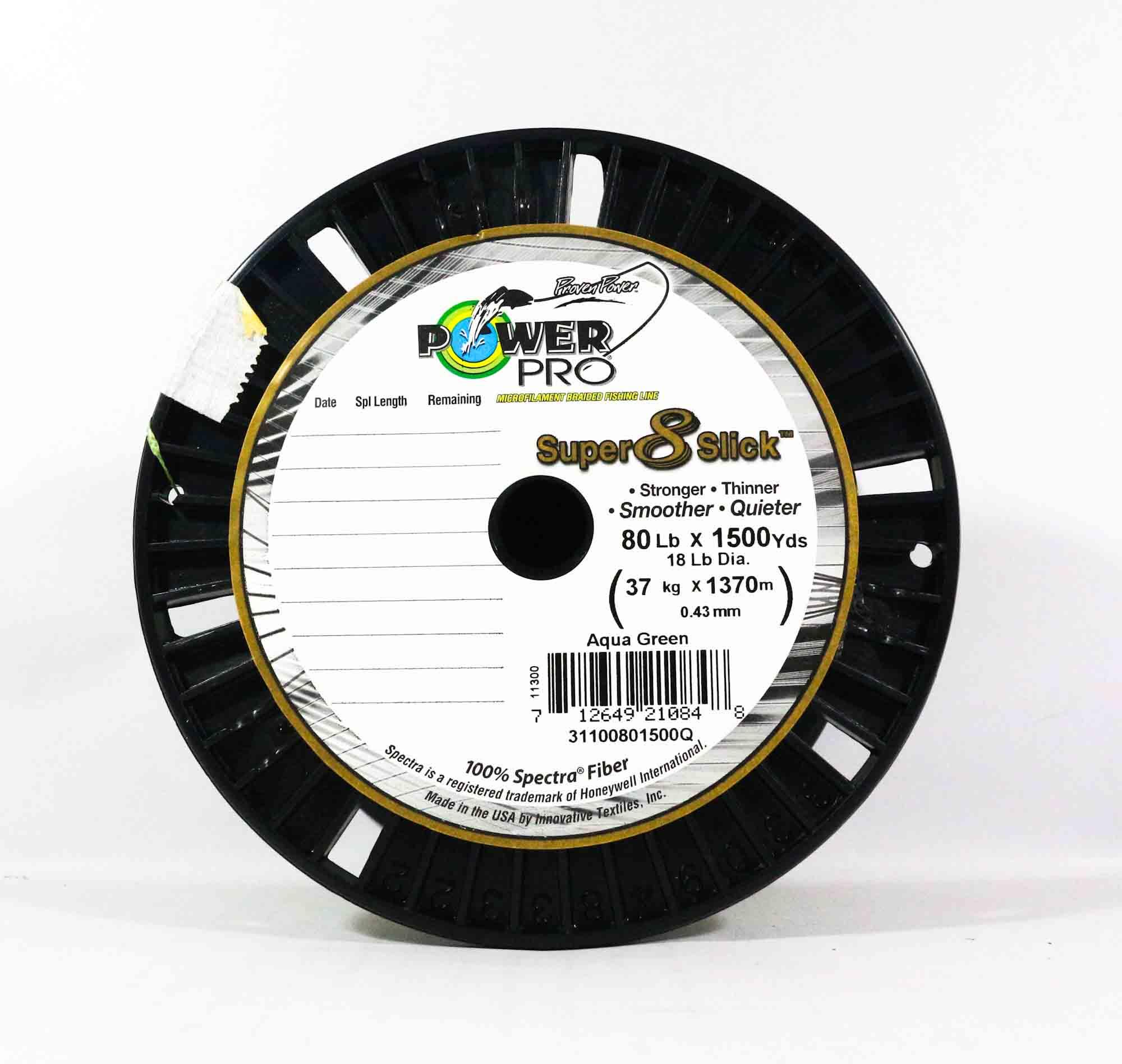 Sale Power Pro Super 8 Slick Spectra Line 80lb by 1500yds Green (0848)