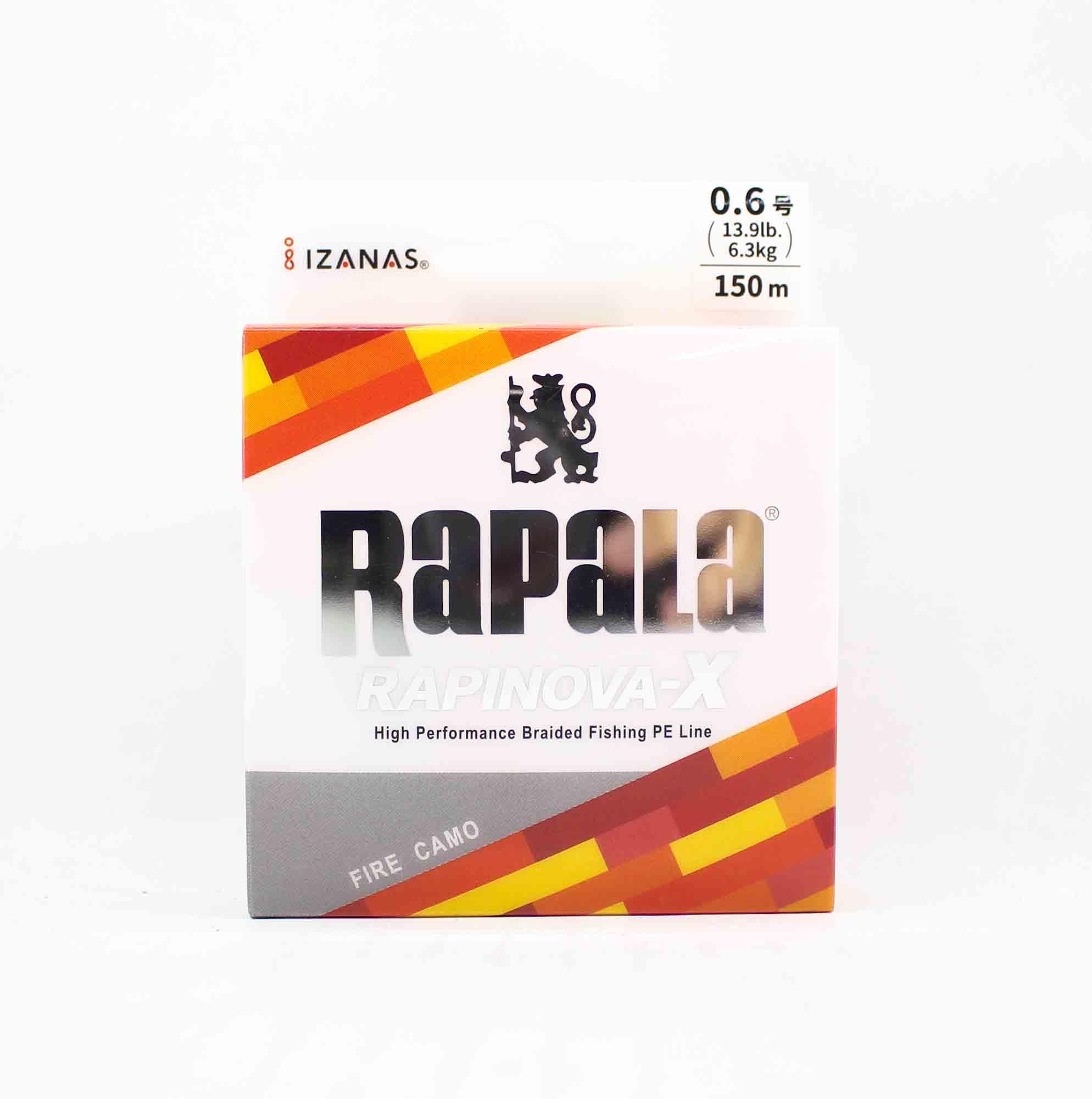 Rapala Rapinova-X Multi Game P.E 0.6 Line 150M 13.9lb Fire Camo (3567)