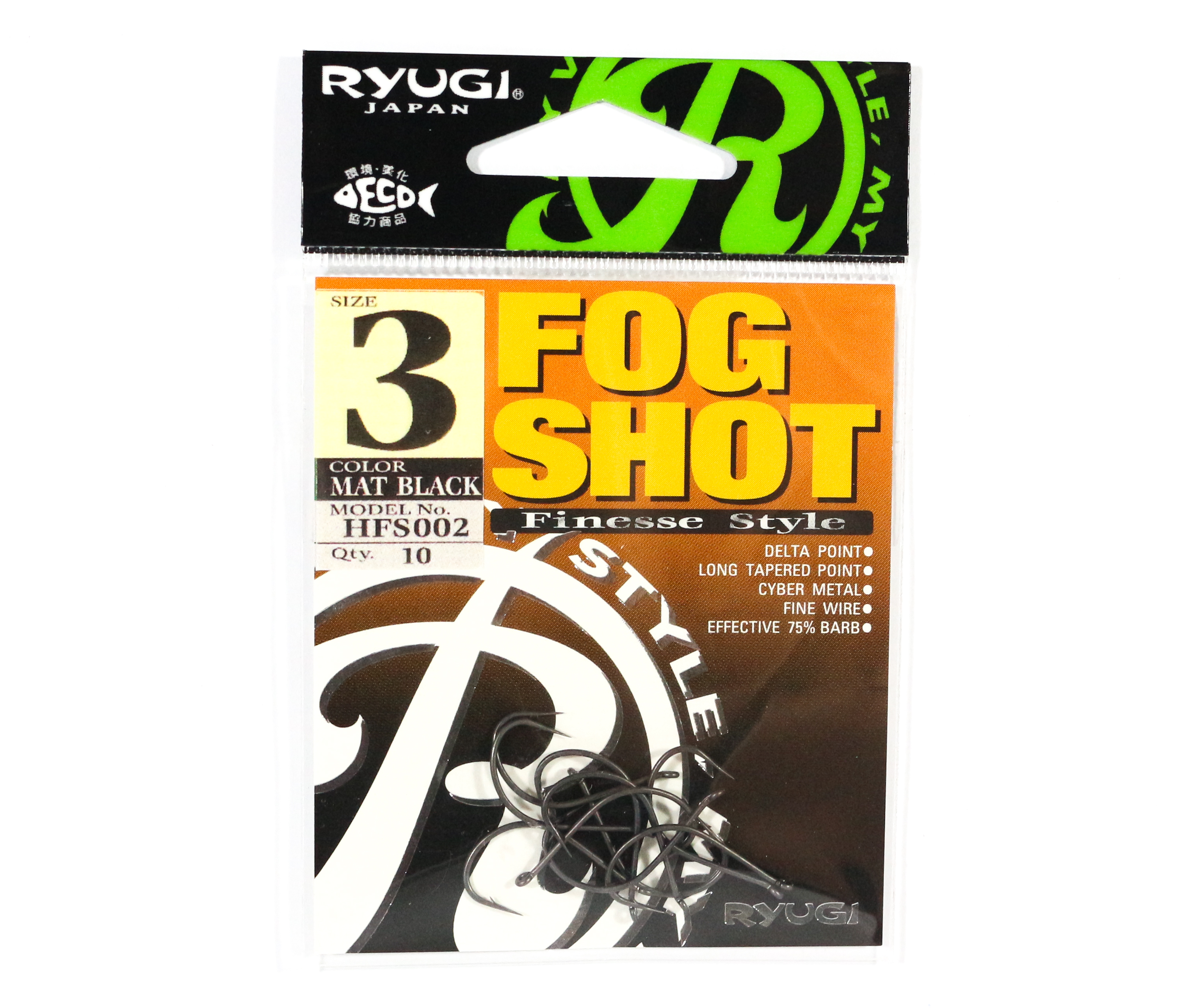 Ryugi HFS002 Fog Shot Finesse Hook Size 3 (0423)