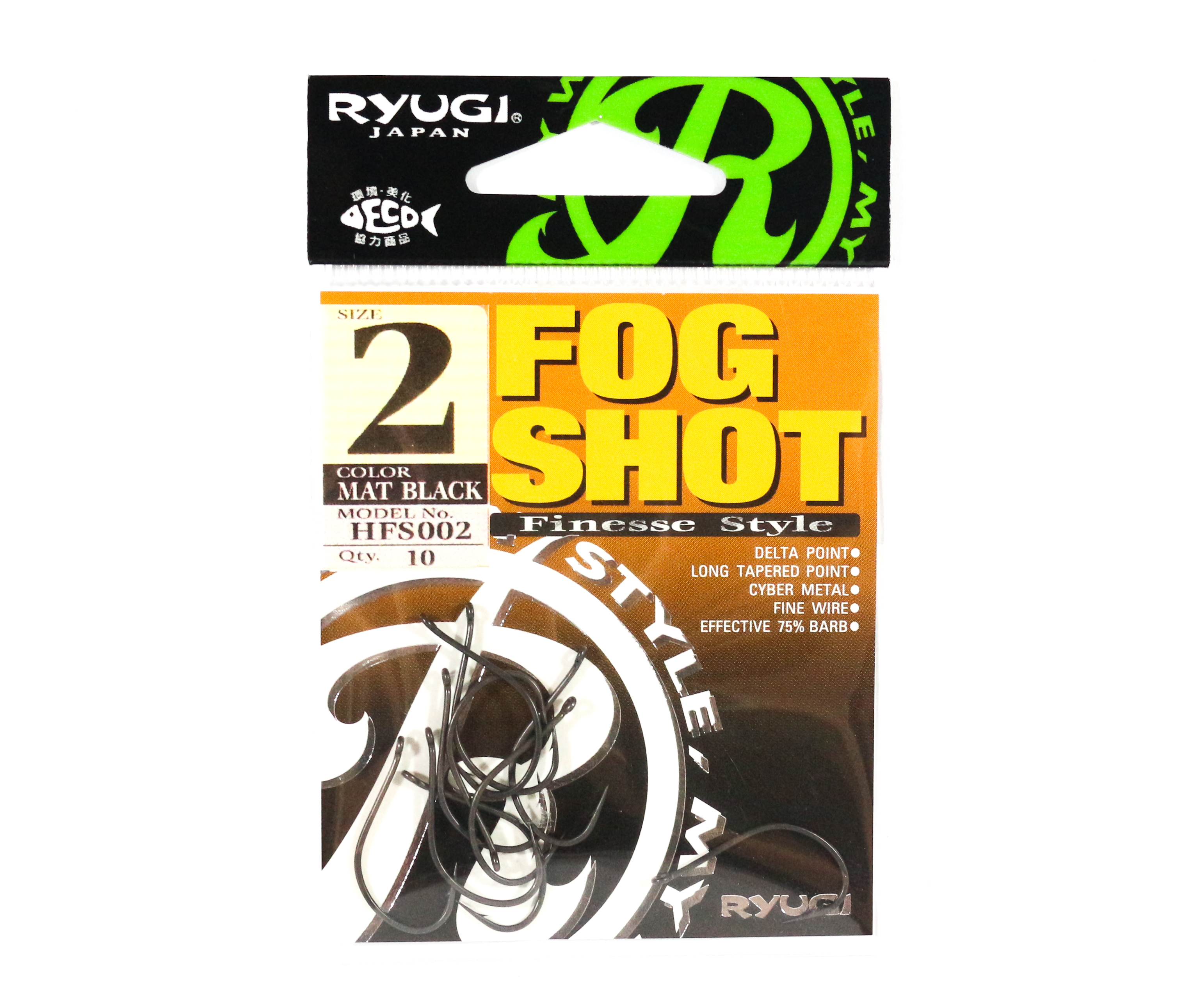 Ryugi HFS002 Fog Shot Finesse Hook Size 2 (0430)