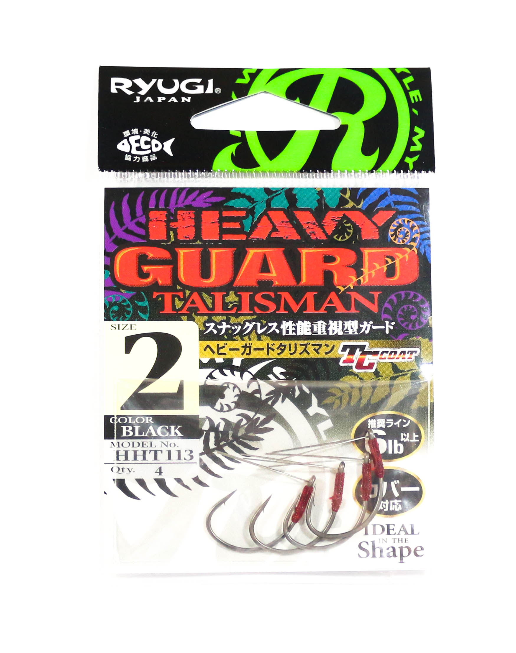 Ryugi HHT113 Heavy Guard Talisman Hook Size 2 (6432)